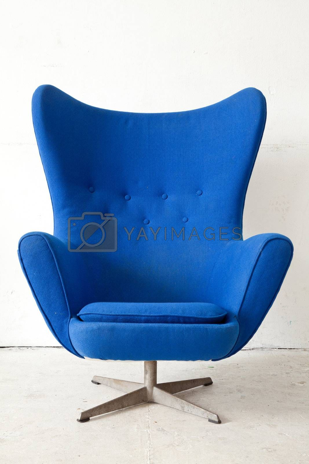 Blue modern Armchair by vichie81