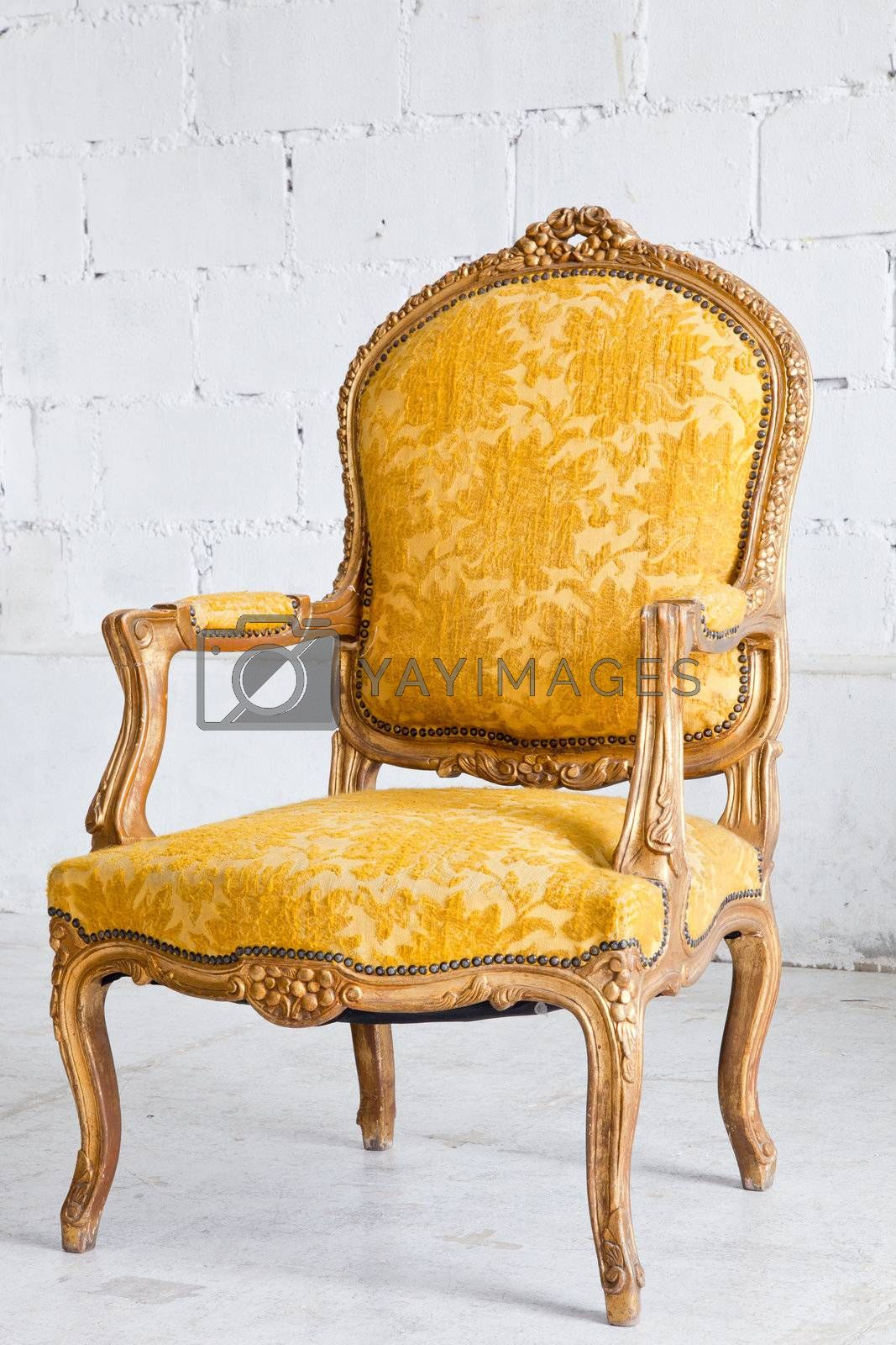 luxury Yellow Armchair by vichie81