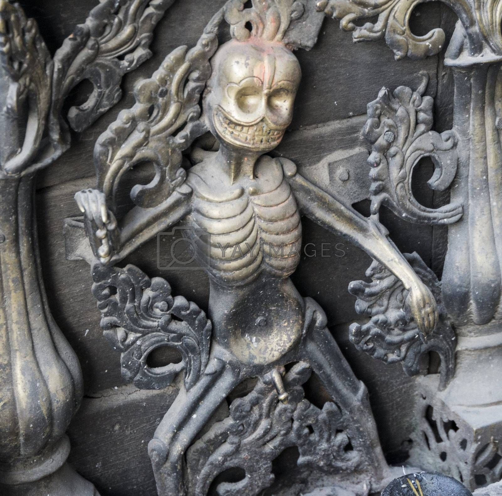 Royalty free image of metal sculpture as a symbol of death by gewoldi
