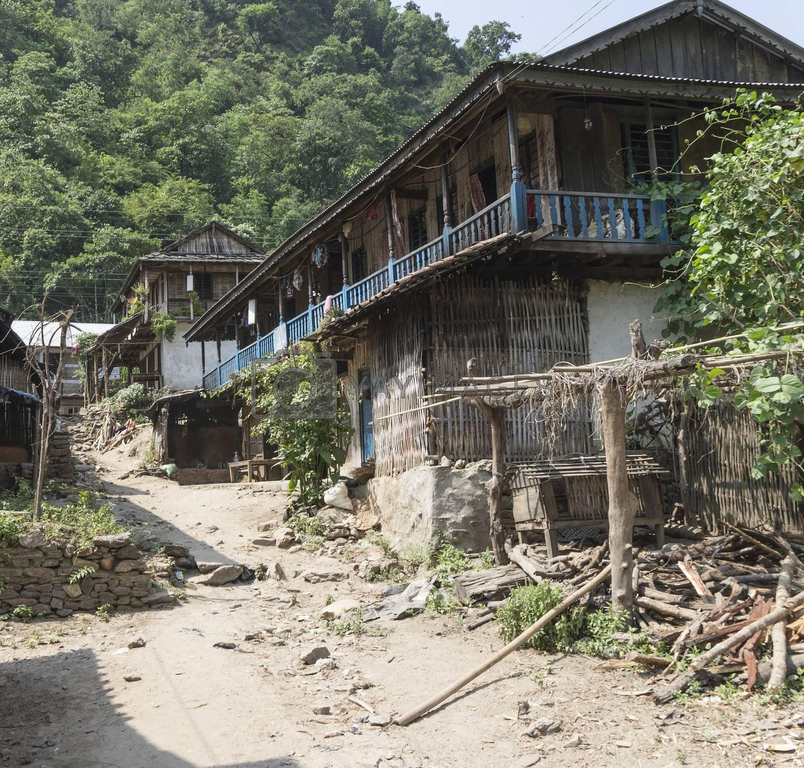 small village in the region sun koshi, nepal by gewoldi