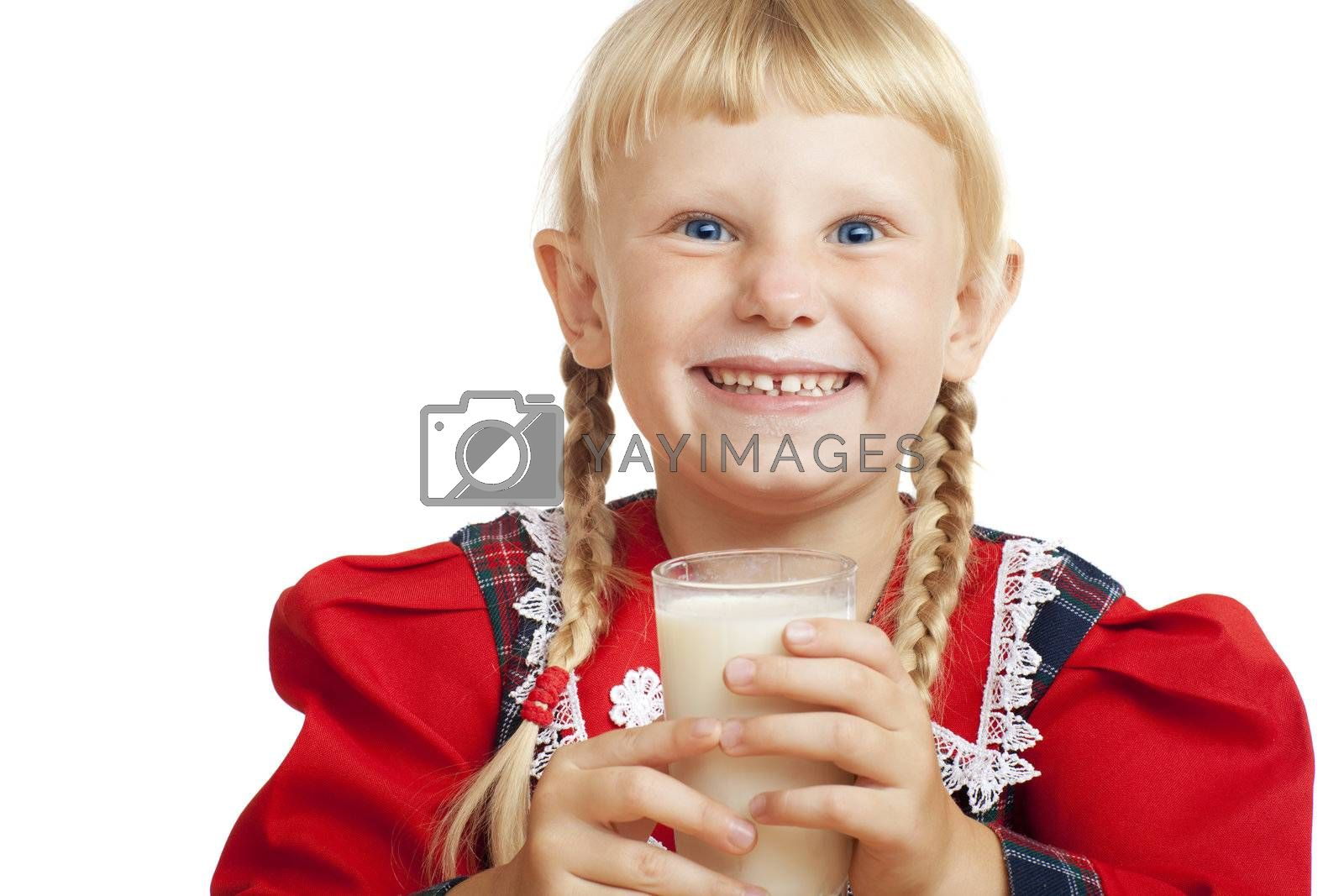 girl with milk by vsurkov