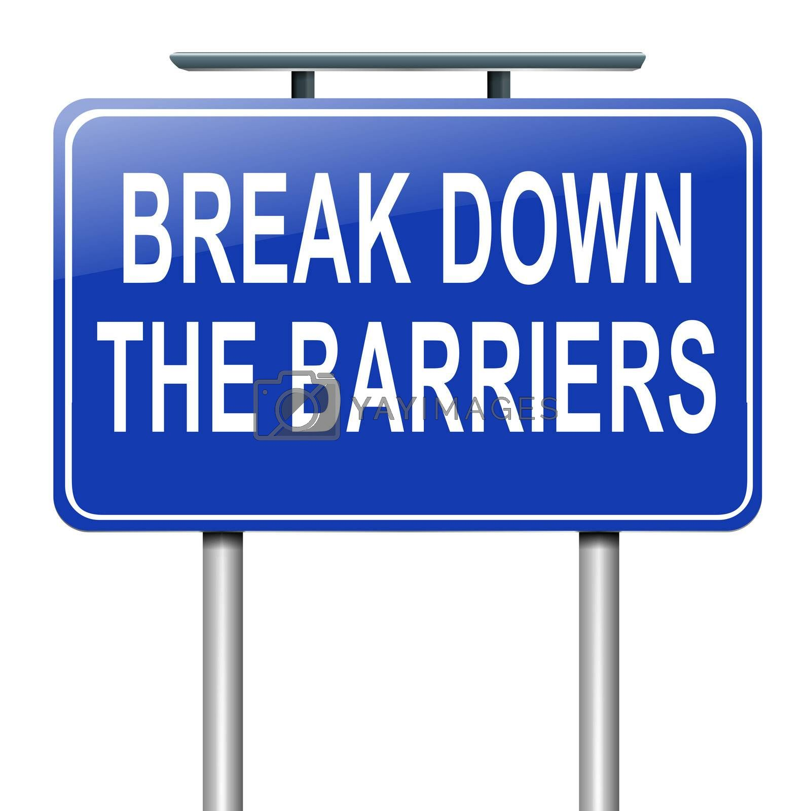 Break down the barriers. by 72soul