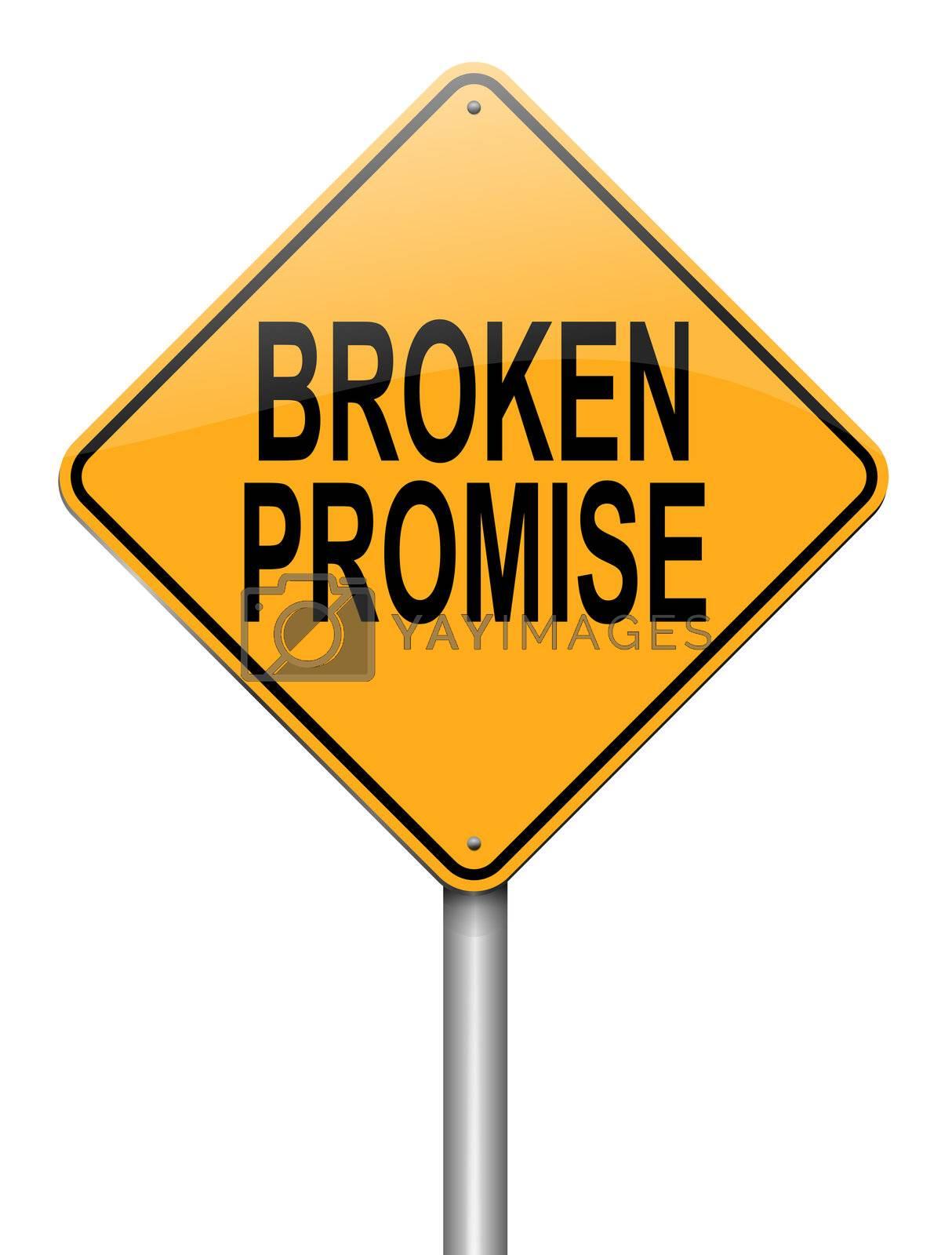 Broken promise concept. by 72soul