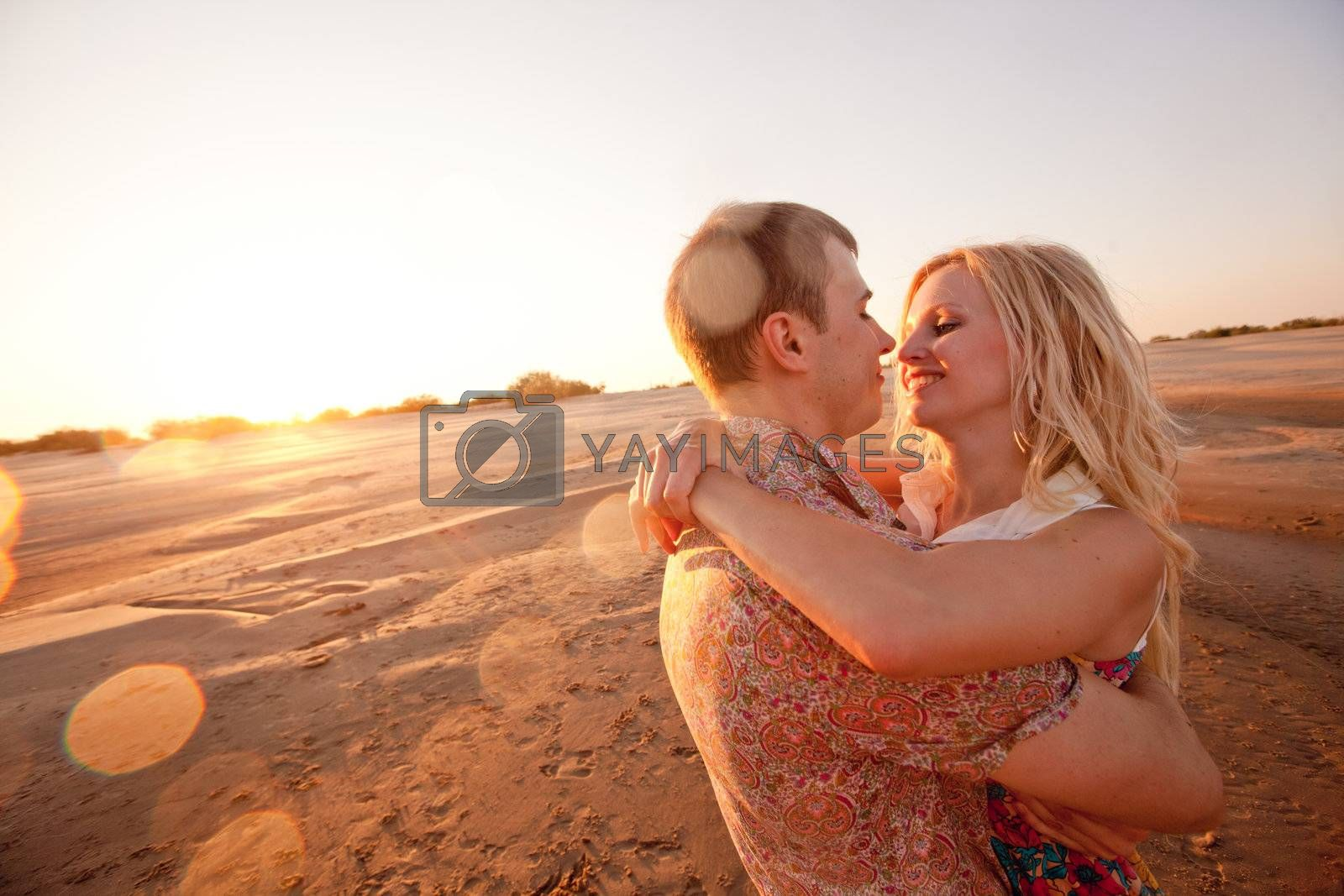 couple on the beach by vsurkov