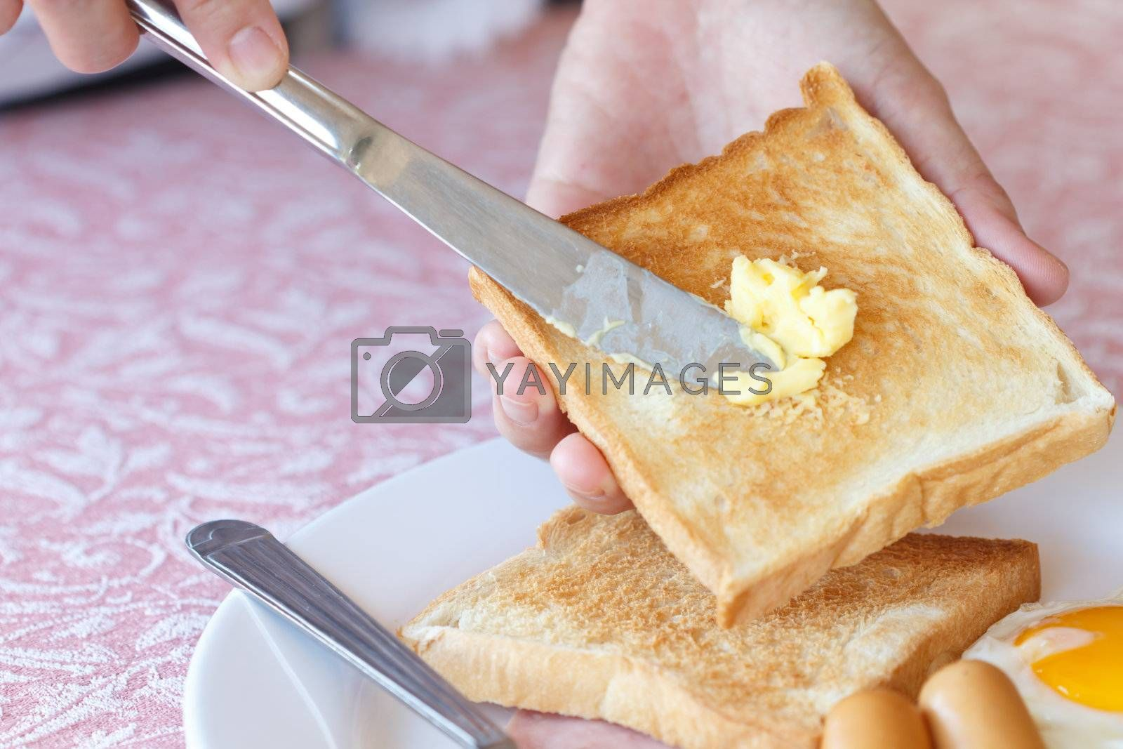 Buttered bread. by tiverylucky