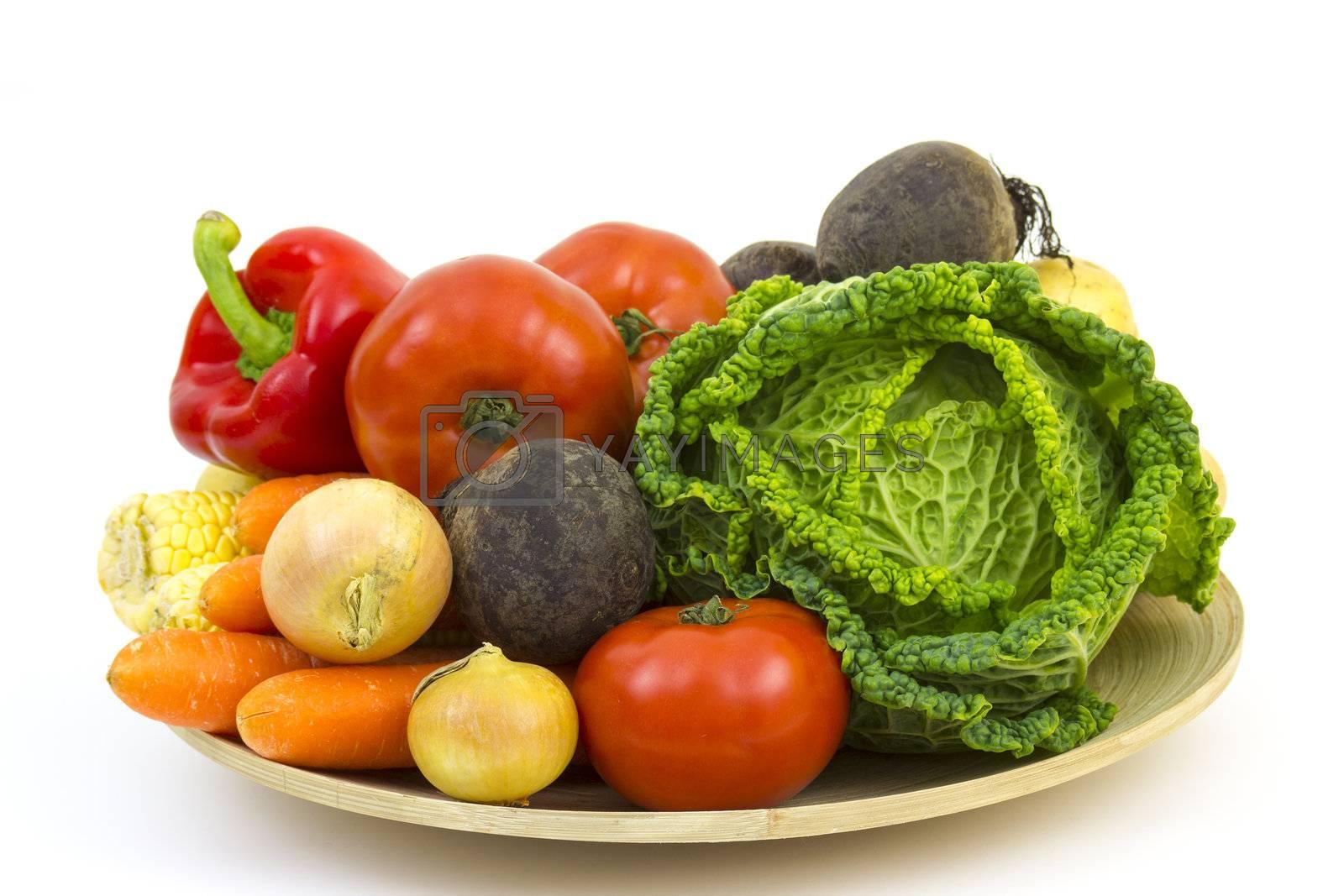 fresh vegetables by miradrozdowski