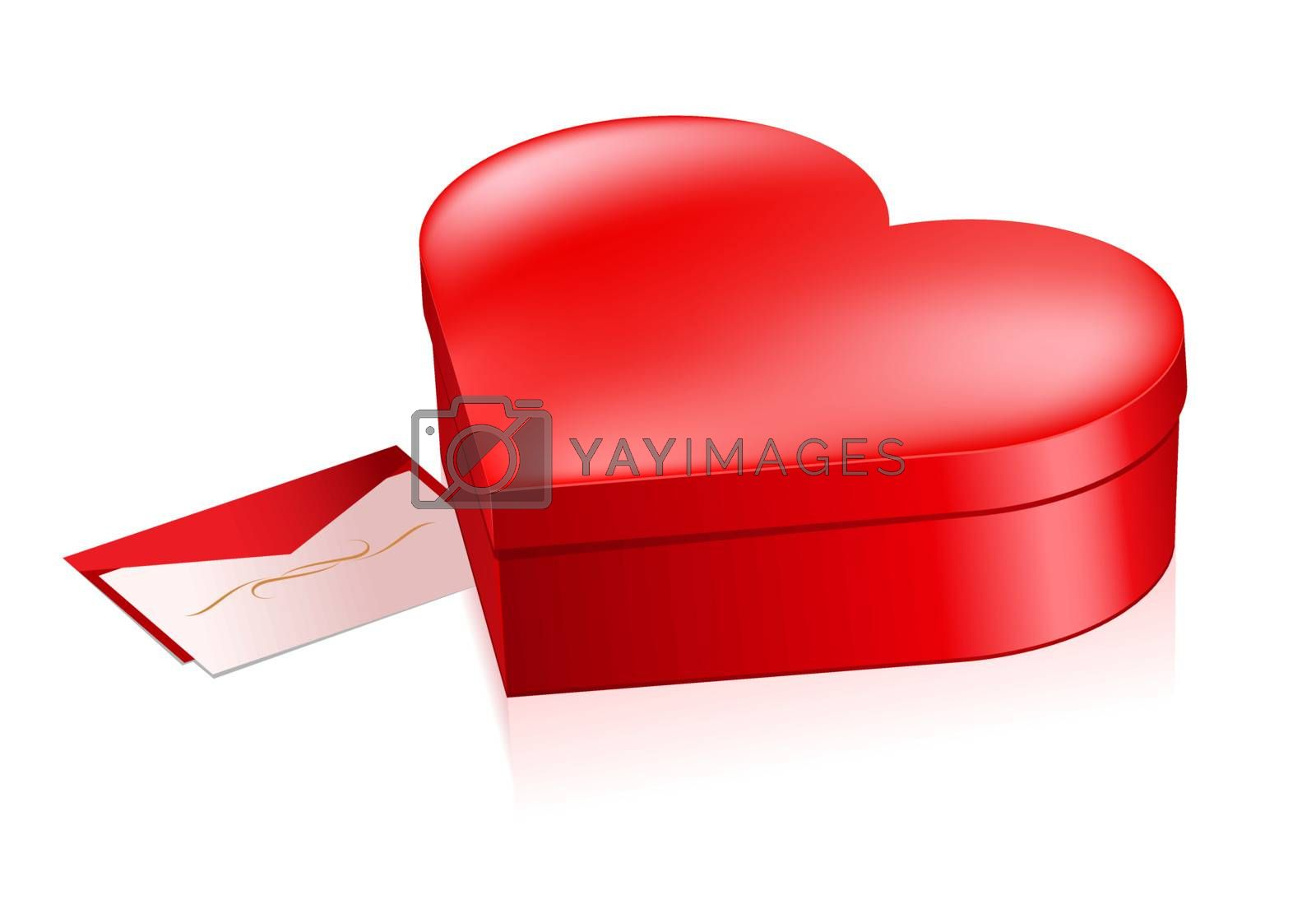 Red box in heart shape by dvarg
