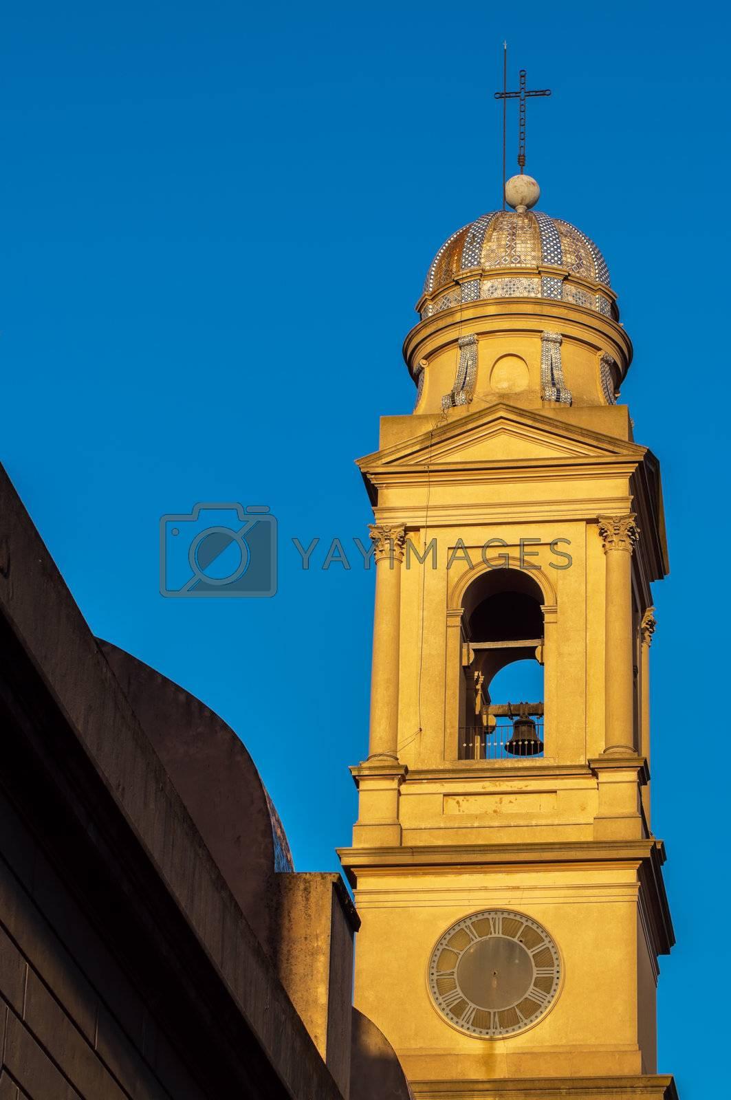 Beautiful Yellow Church Steeple by jkraft5