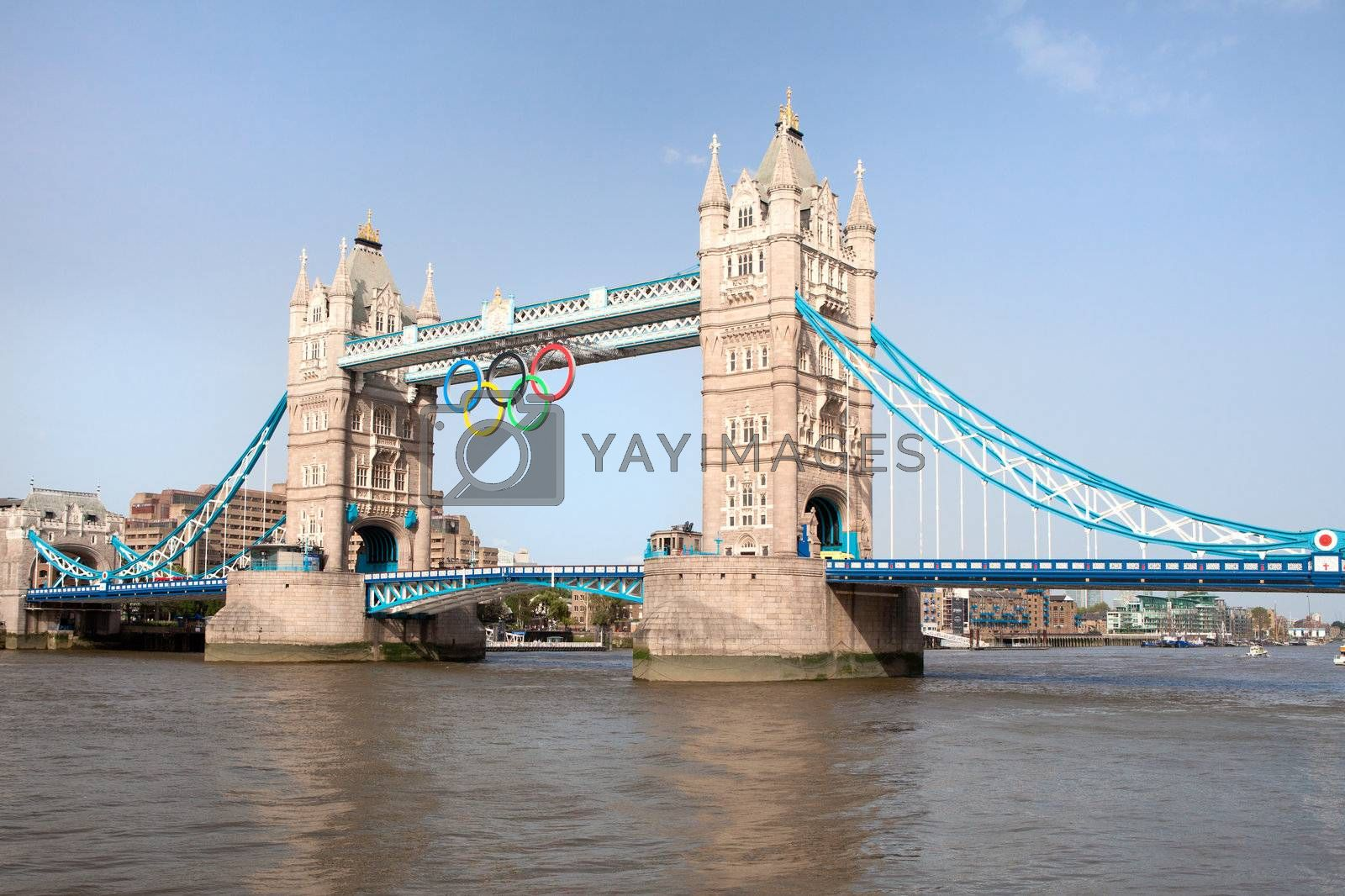 Tower bridge decorated with Olympic rings  London 2012 UK by SergeyAK