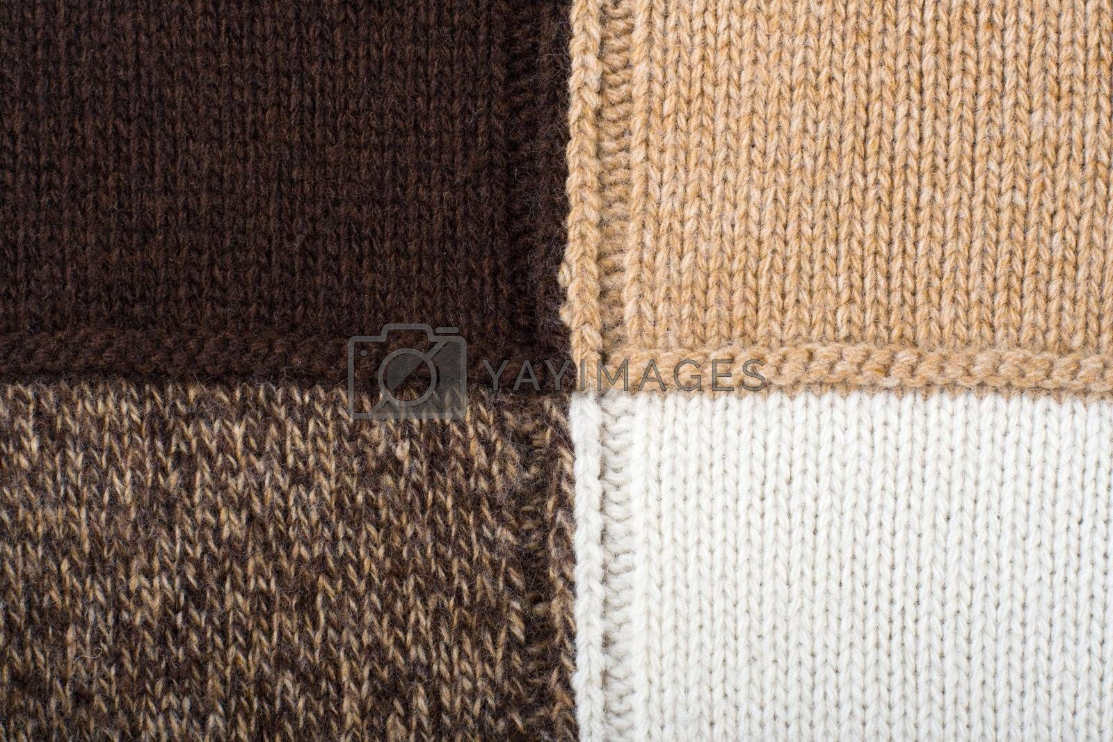 Knitted textile Abstract Backgrounds  by SergeyAK