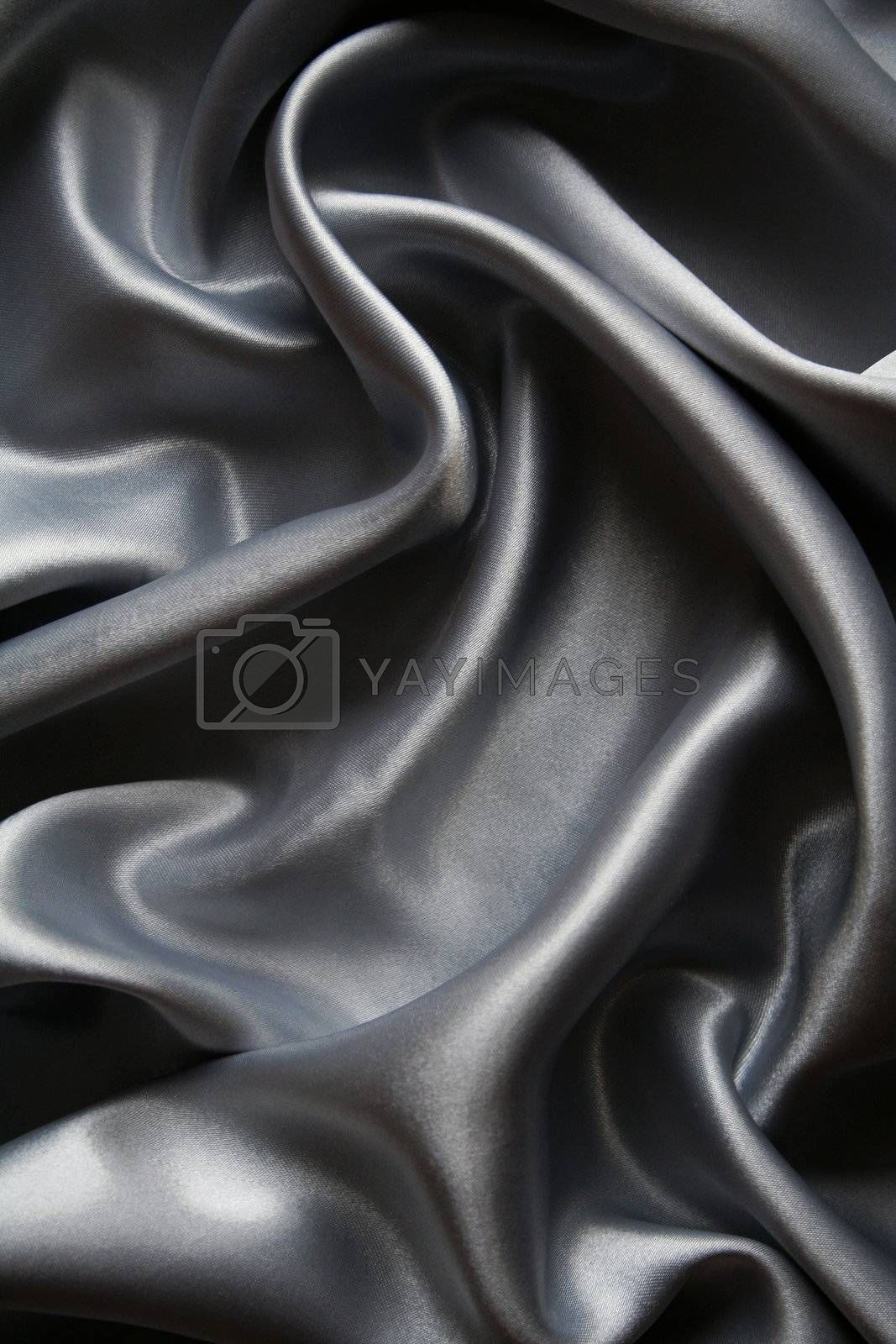Smooth elegant grey silk as background  by oxanatravel