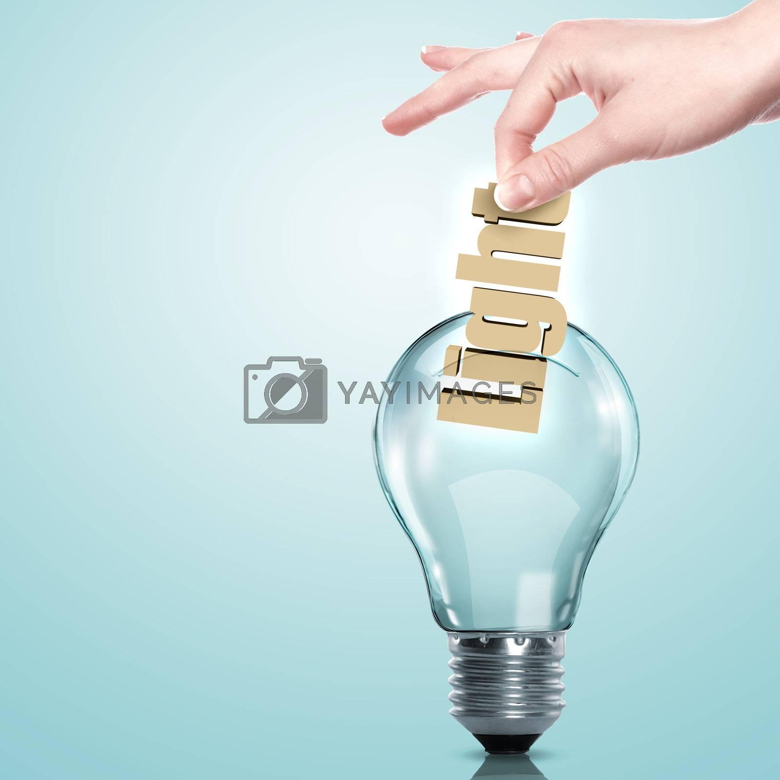 Electric bulb illustration by Sergey Nivens