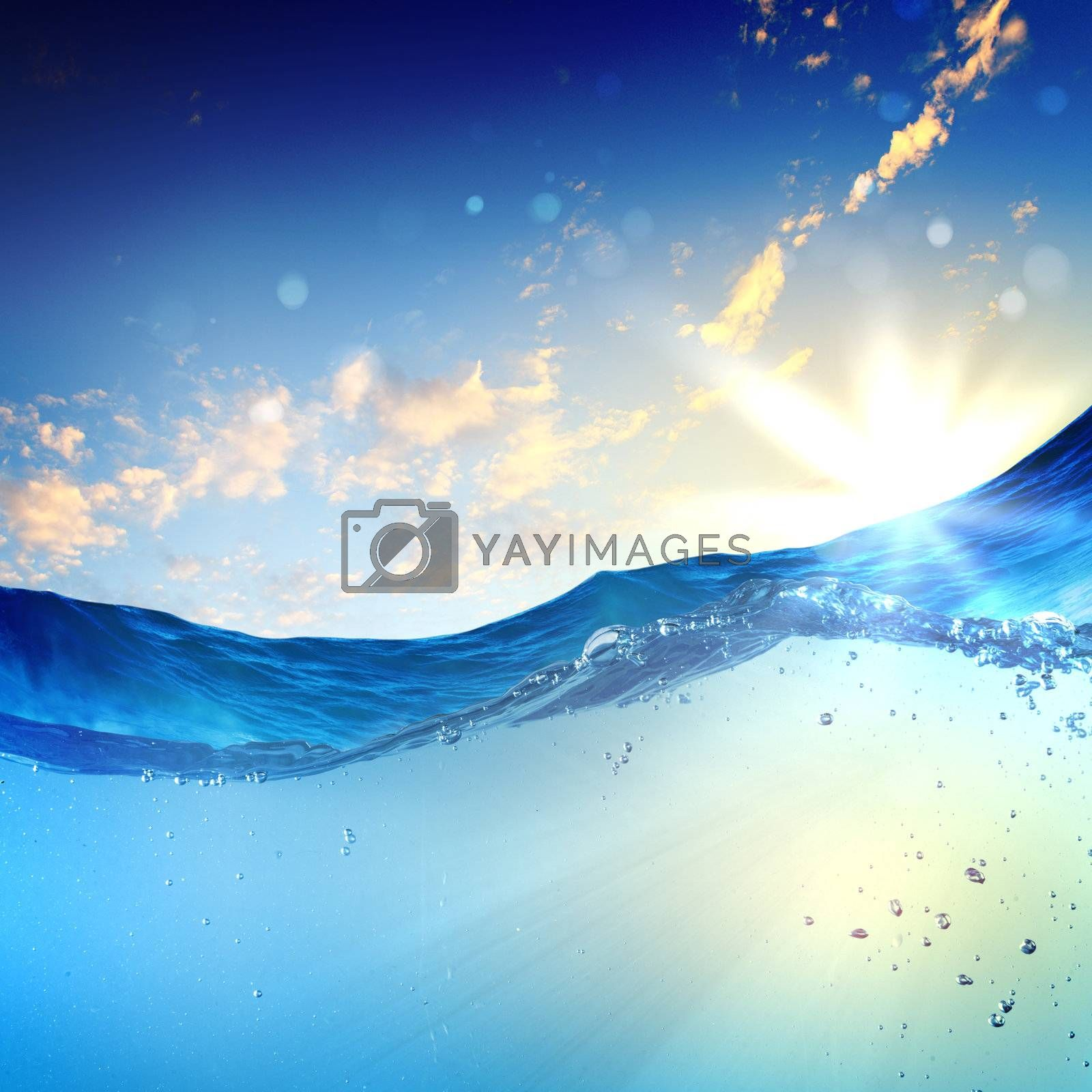 sundown seascape by Sergey Nivens