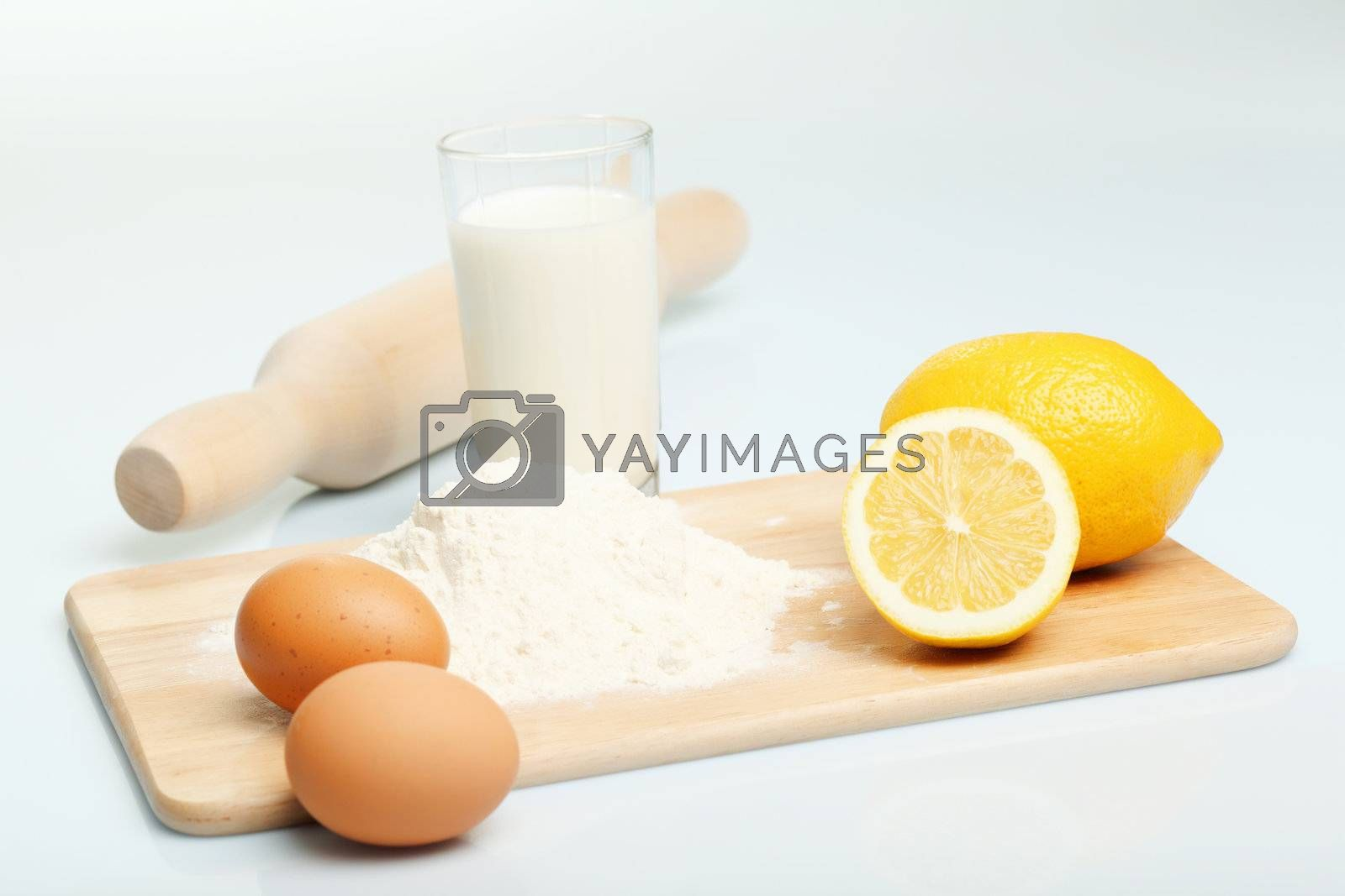 Different products to make bread by Sergey Nivens