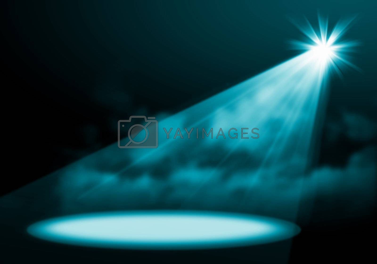 Stage lights. illustration. by Sergey Nivens