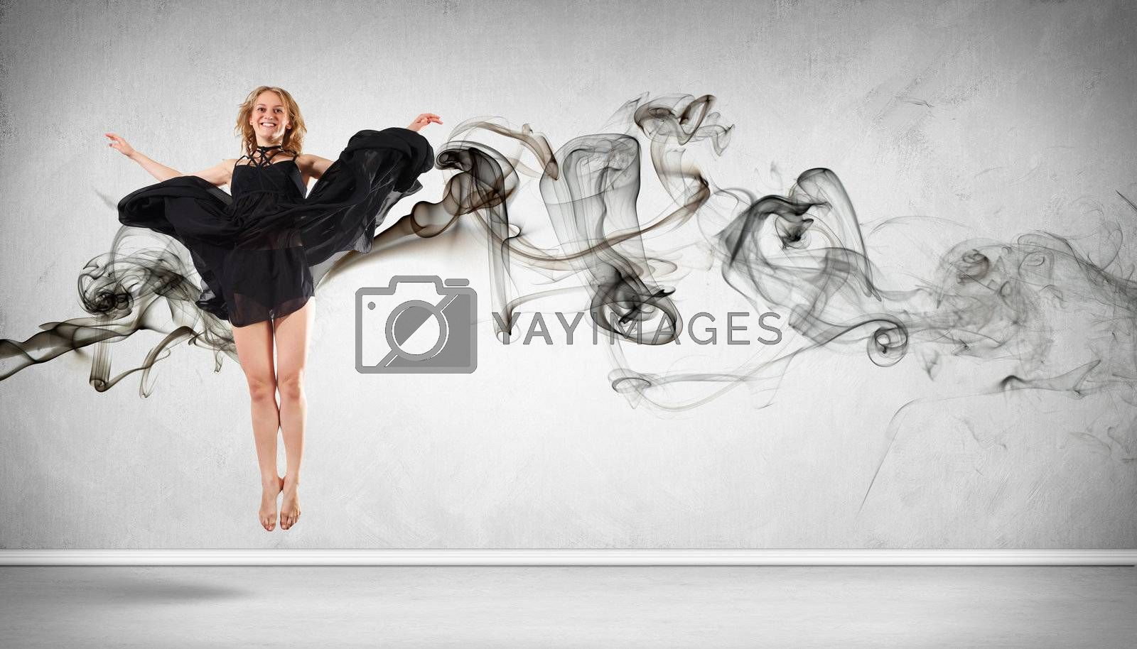 Modern style dancer posing by Sergey Nivens