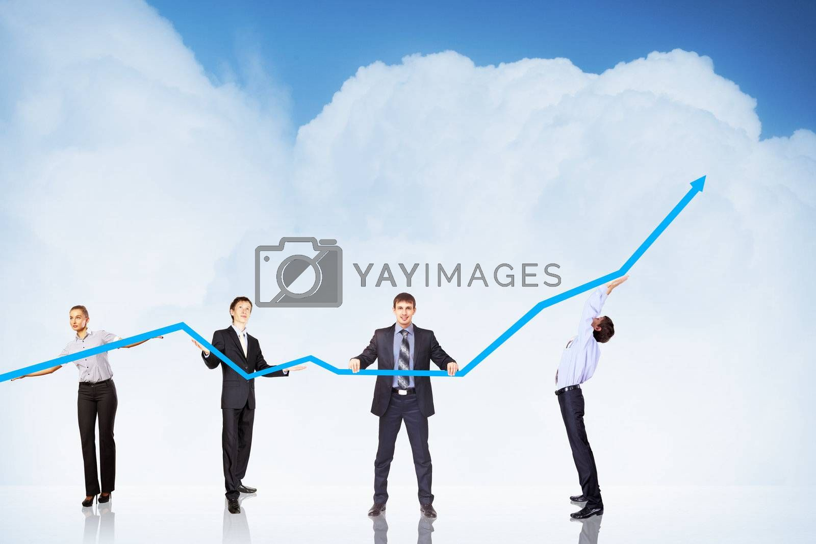 Business Growth And Success Graph by Sergey Nivens
