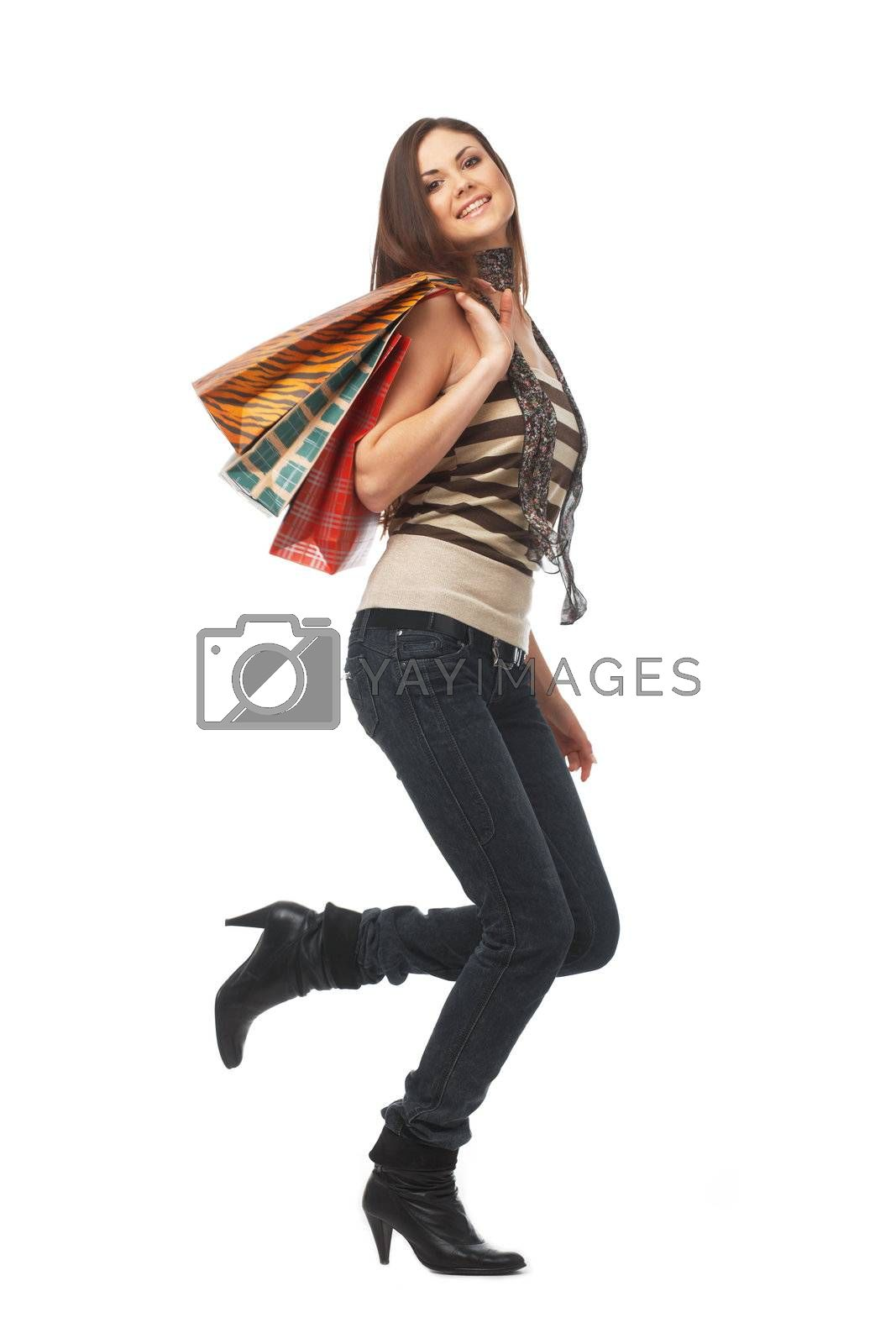 Fuii Length of a Girl With Bags by romanshyshak