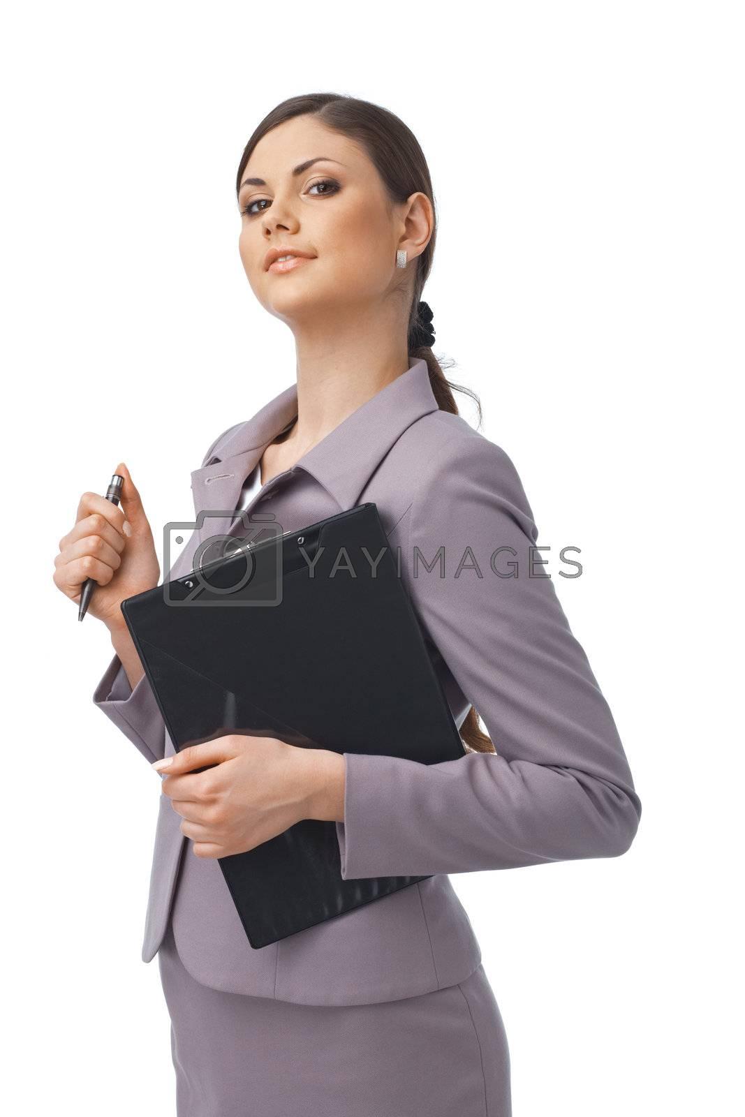 Confident Young Businesswoman by romanshyshak