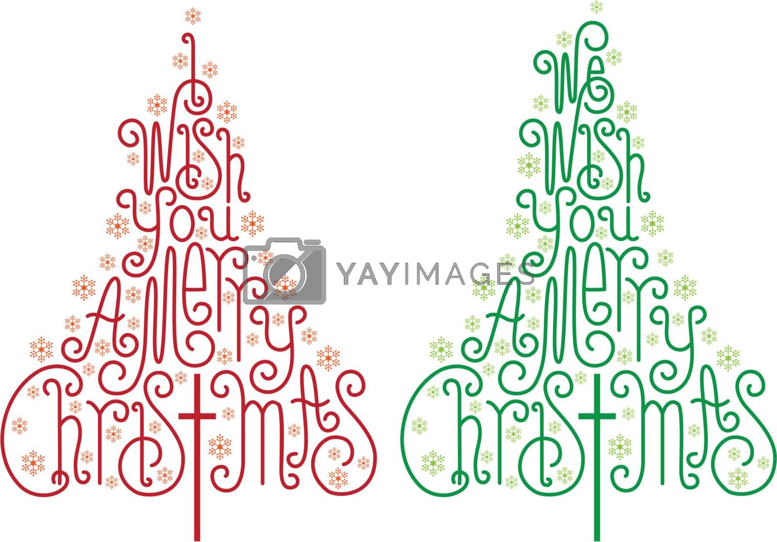 Christmas trees, vector by dustypink