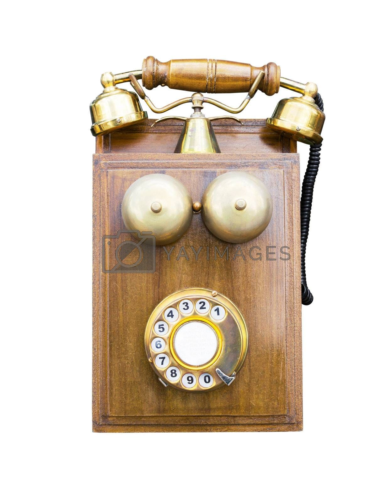 Antique wooden telephone by stoonn