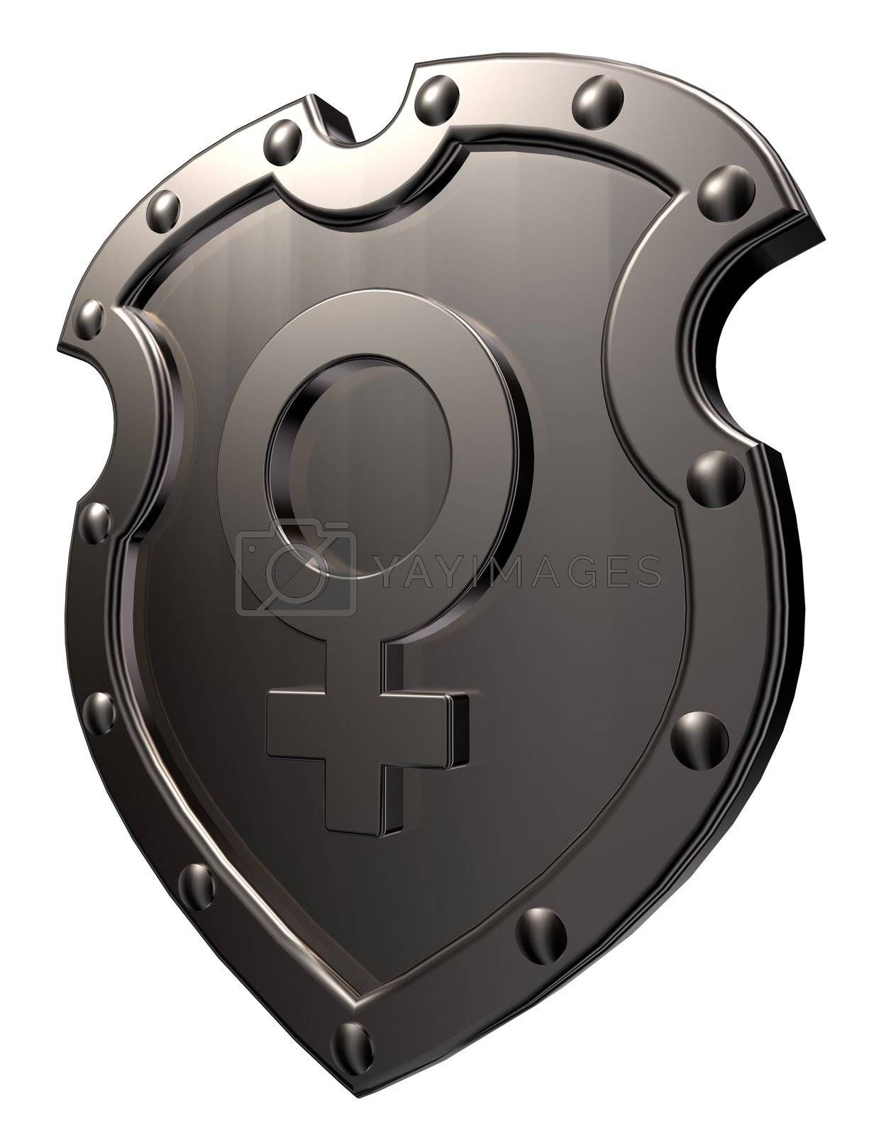 female symbol on shield by drizzd