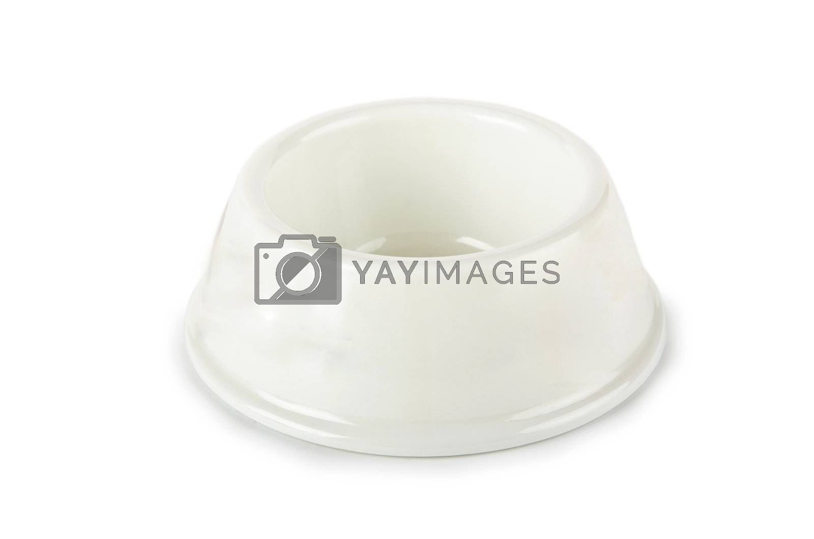 Pet bowl isolated on the white background by Elnur