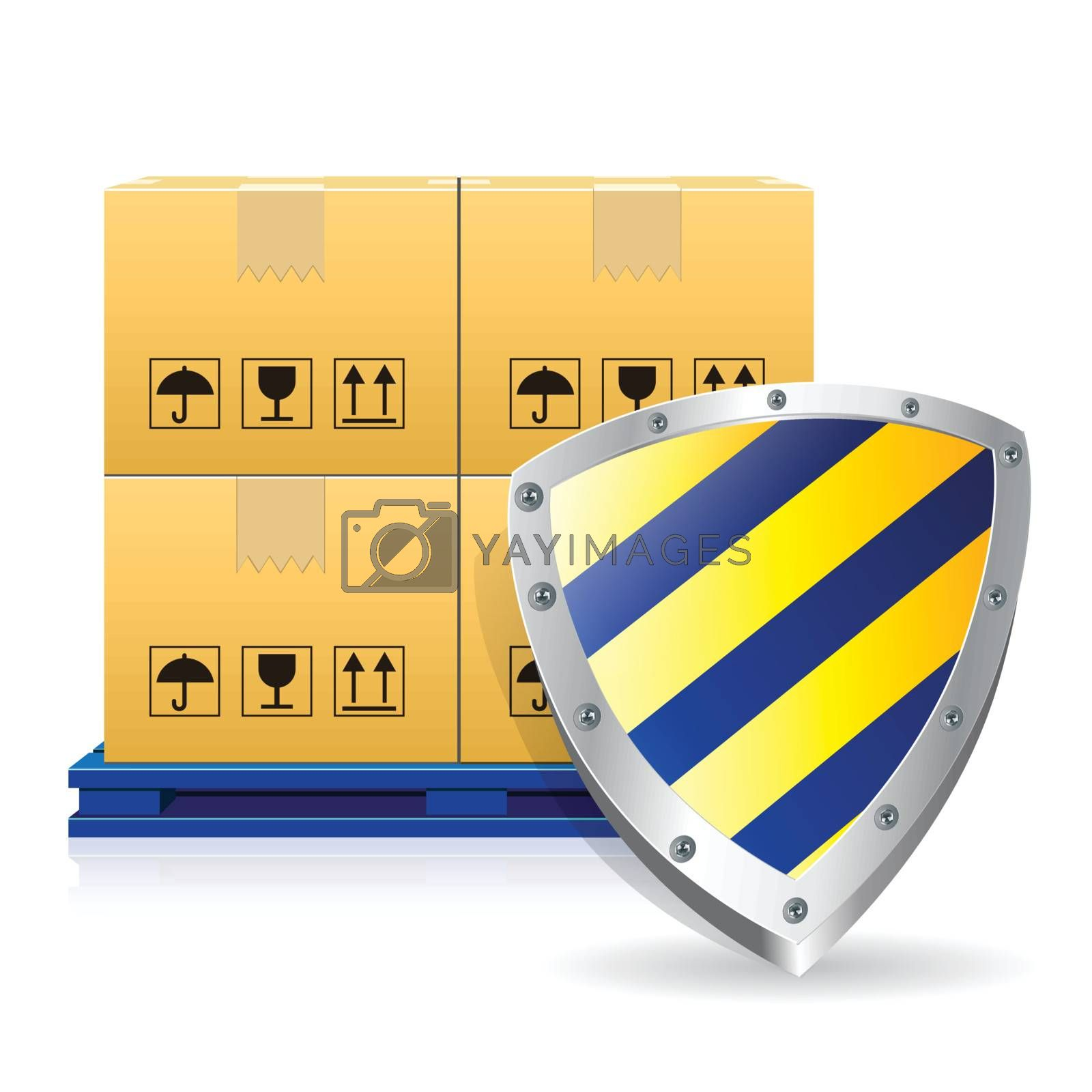 cartons box and guard icon