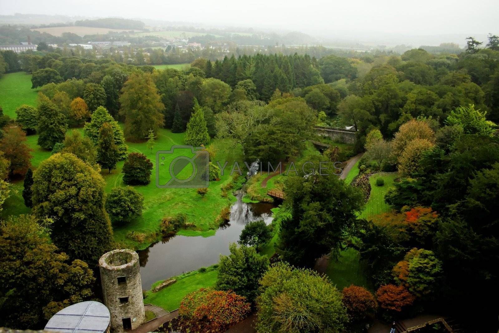 View of garden at Blarney Castle