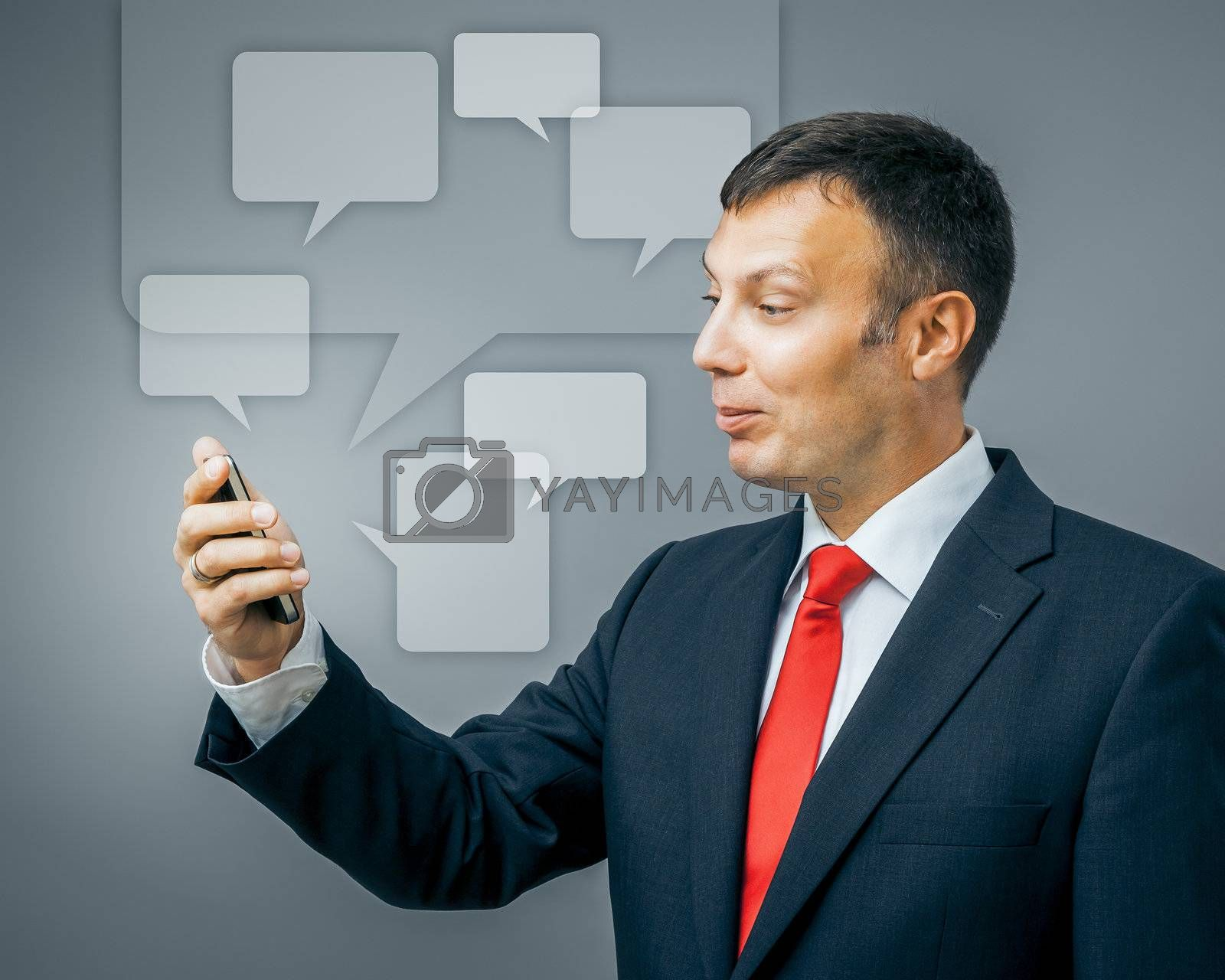 An image of a business man communication