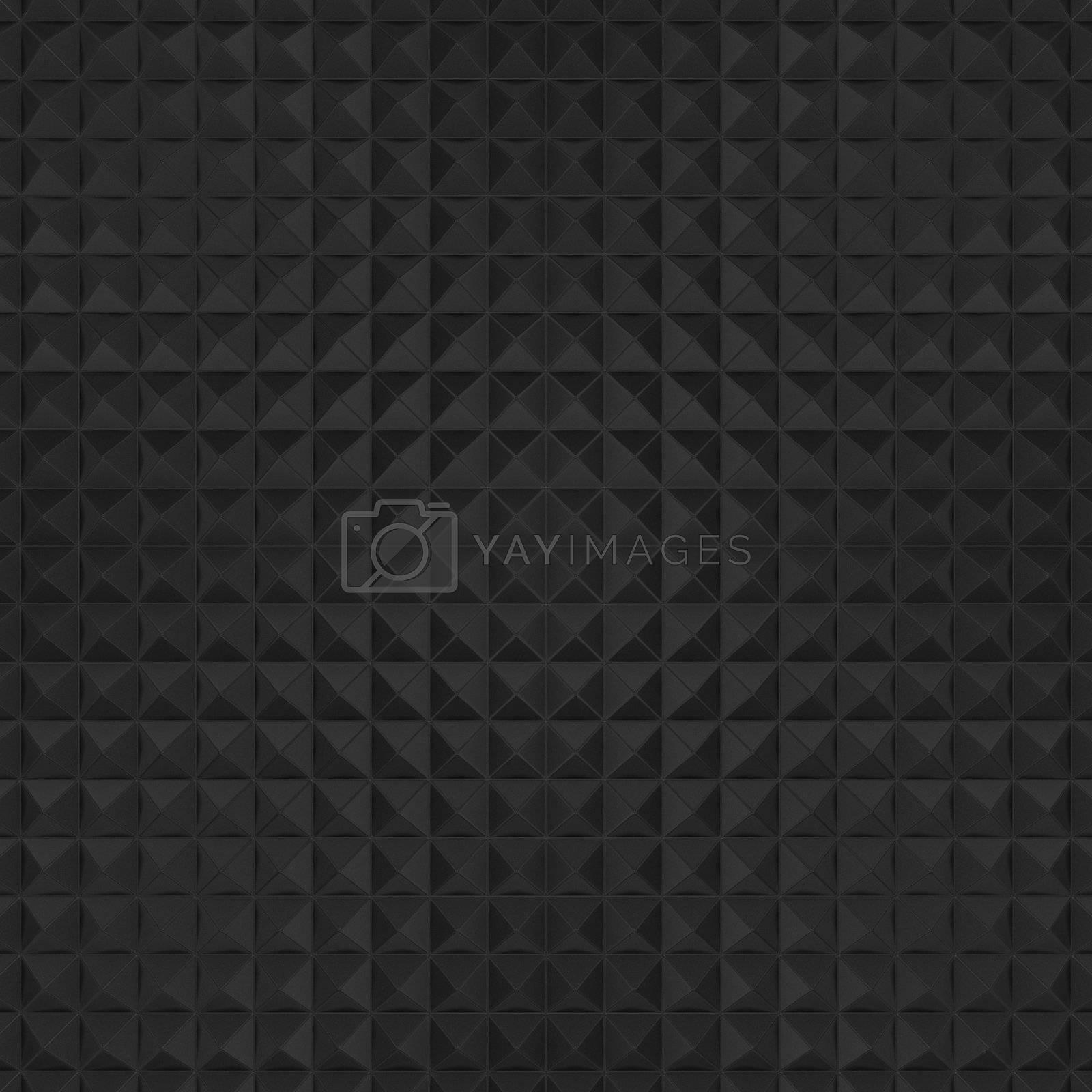 Black tiles background, sculptured texture
