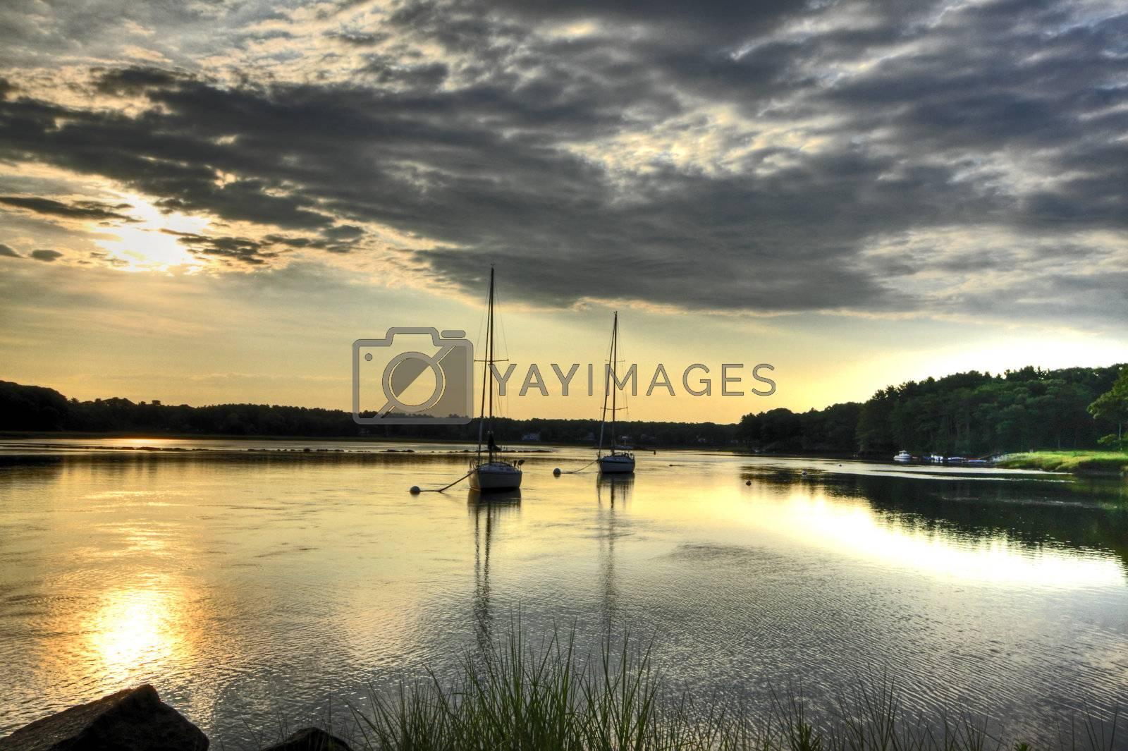 Sunrise at low tide at Biddeford Pool