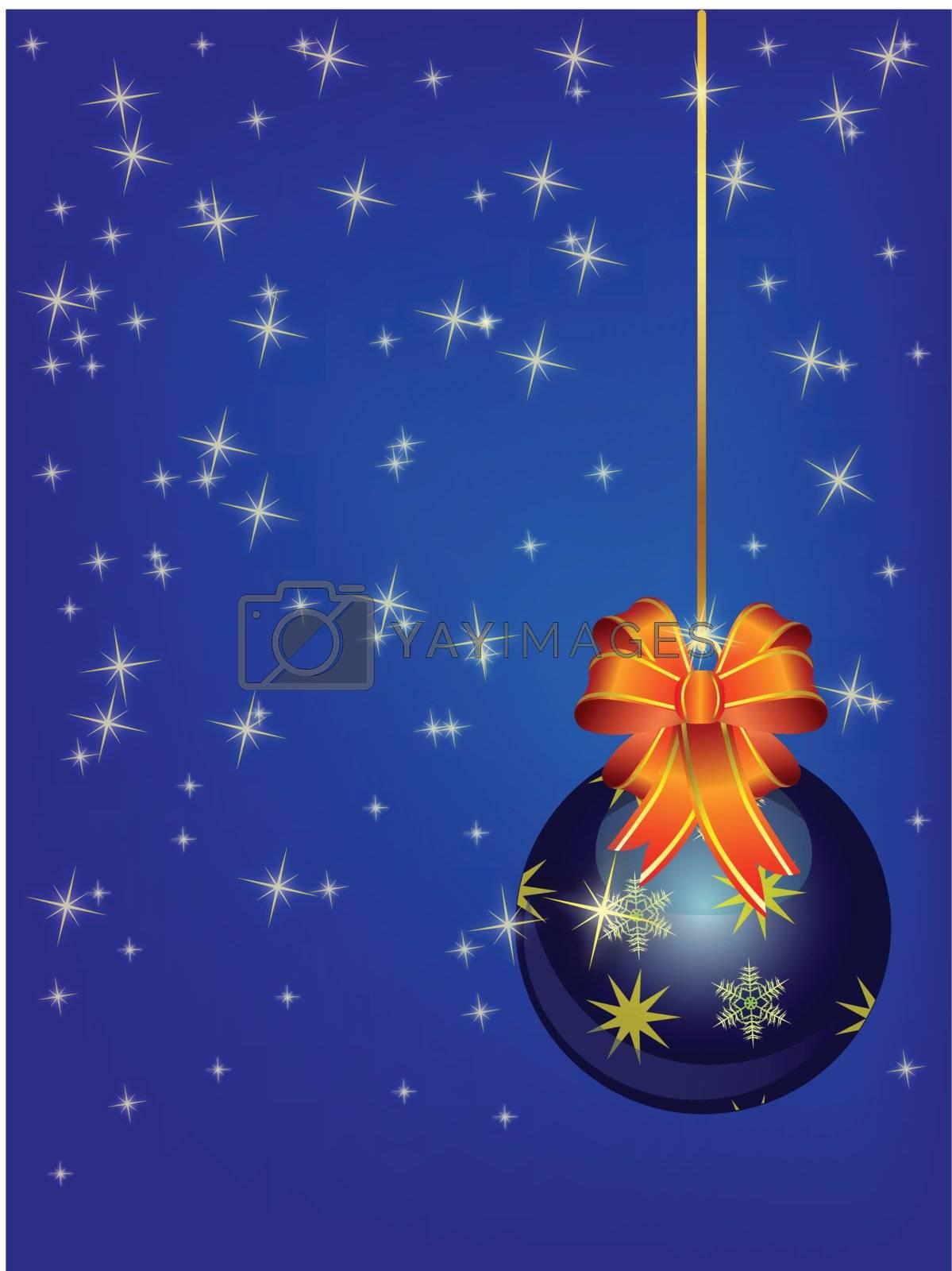 Blue christmas ball by Nikonas