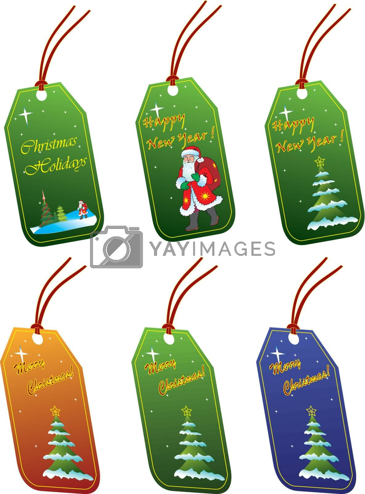 Christmas tags by Nikonas