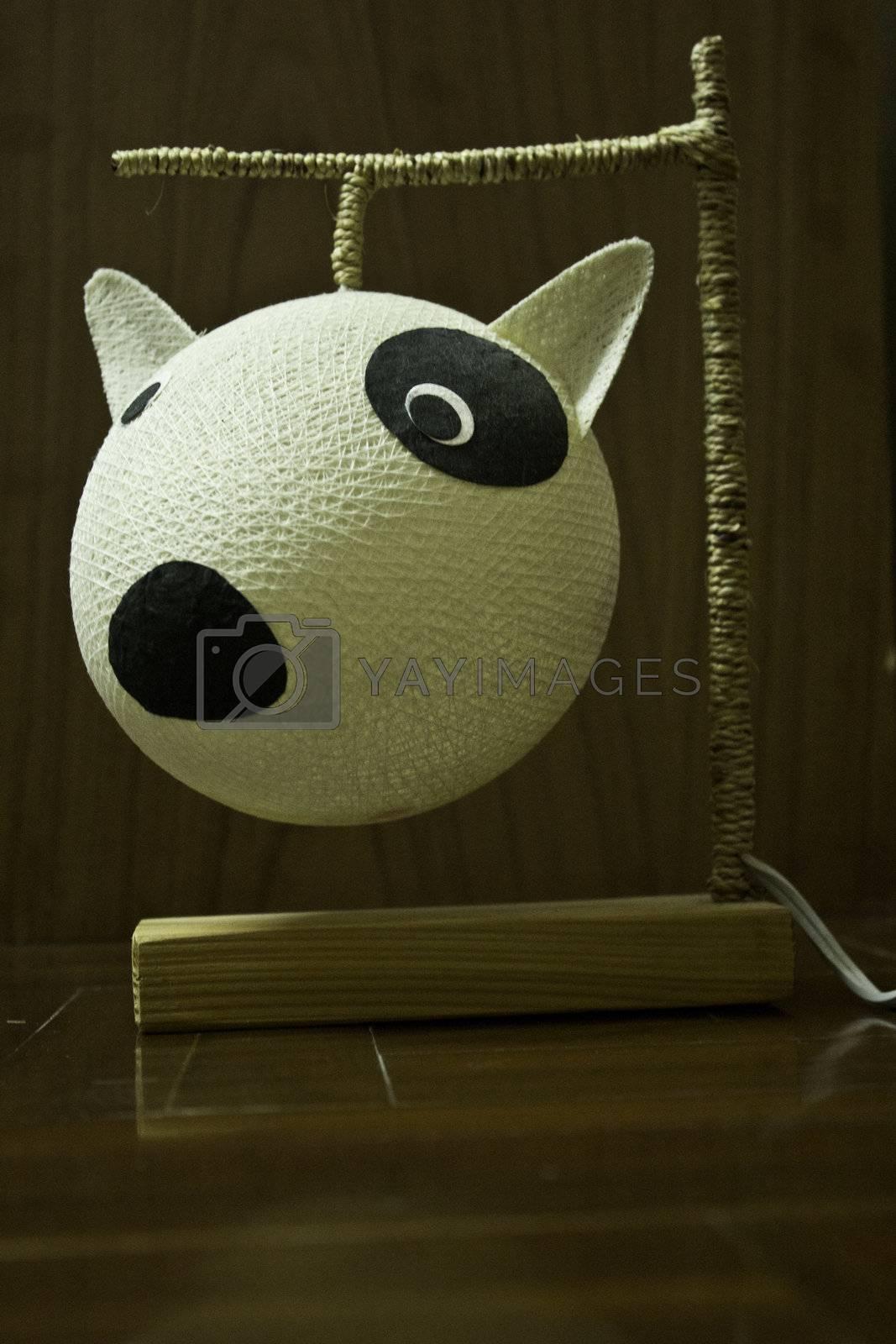 dog lamp design for decoration