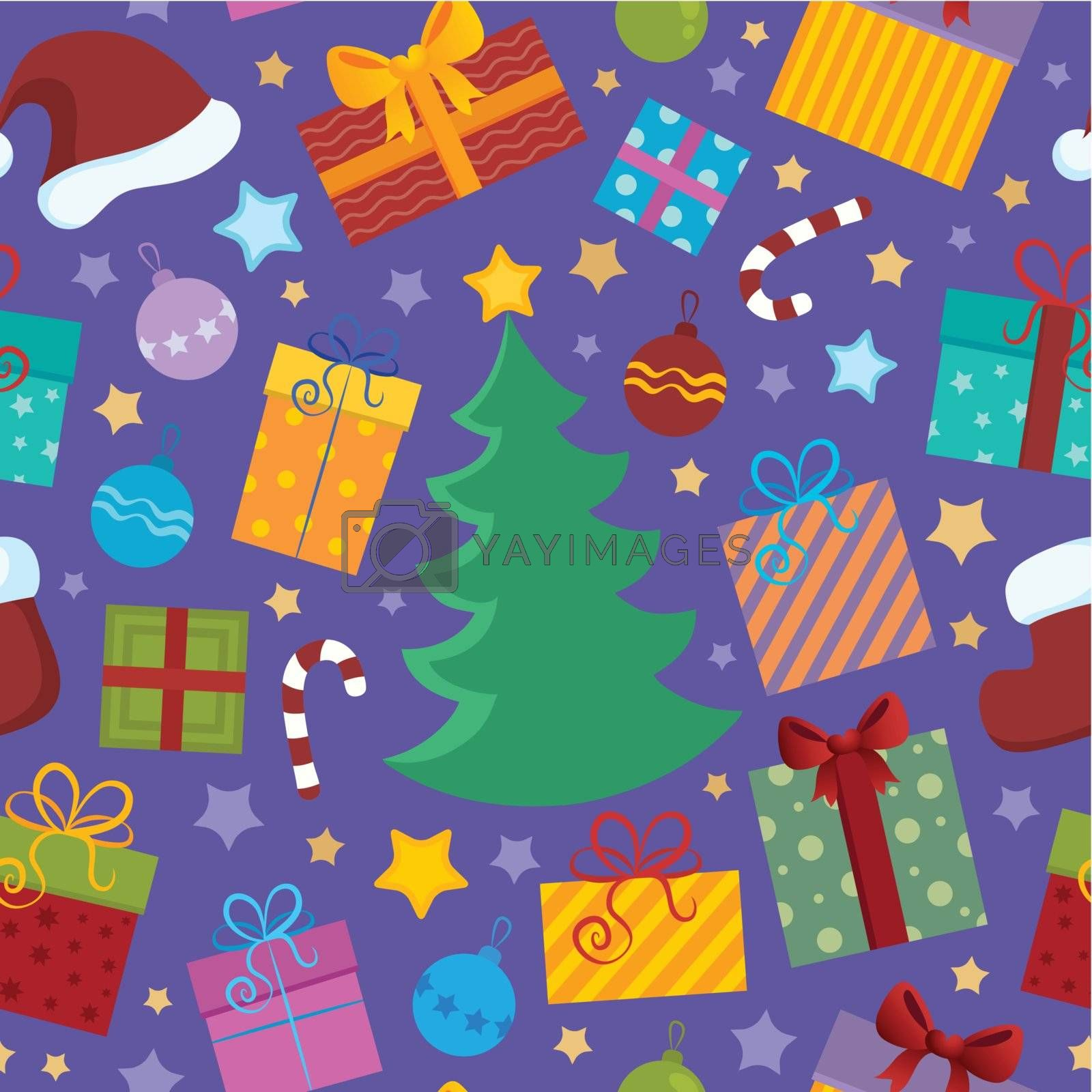 Seamless background Christmas 2 - vector illustration.
