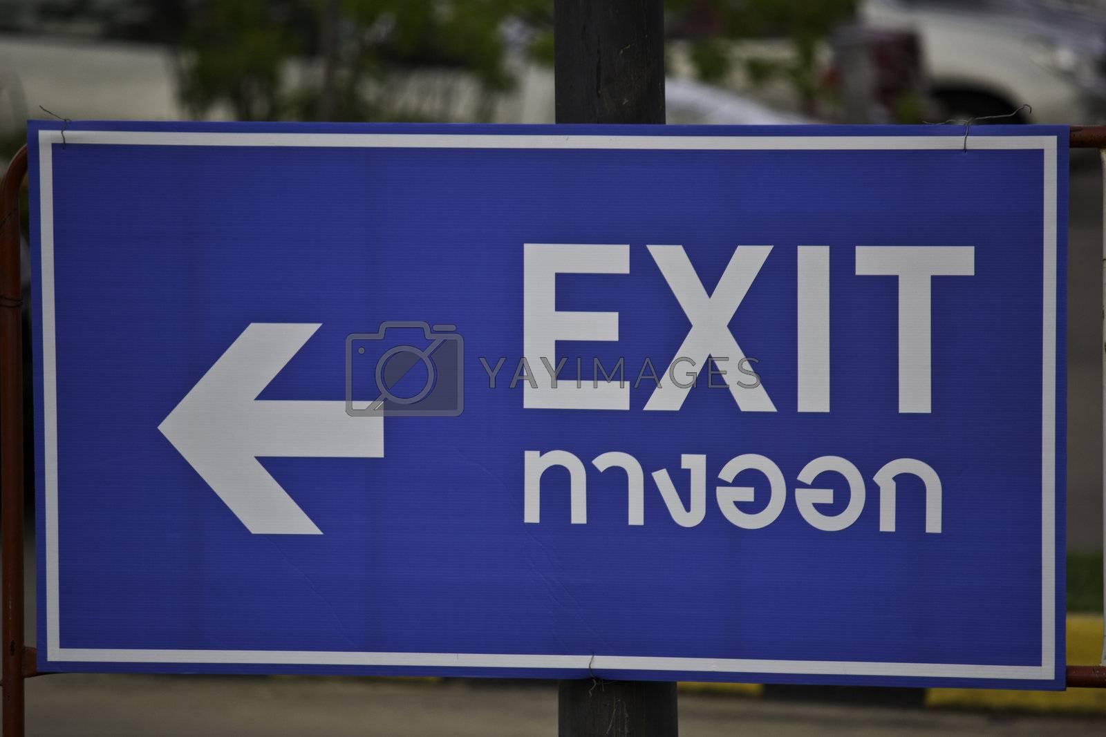modern thai exit sign
