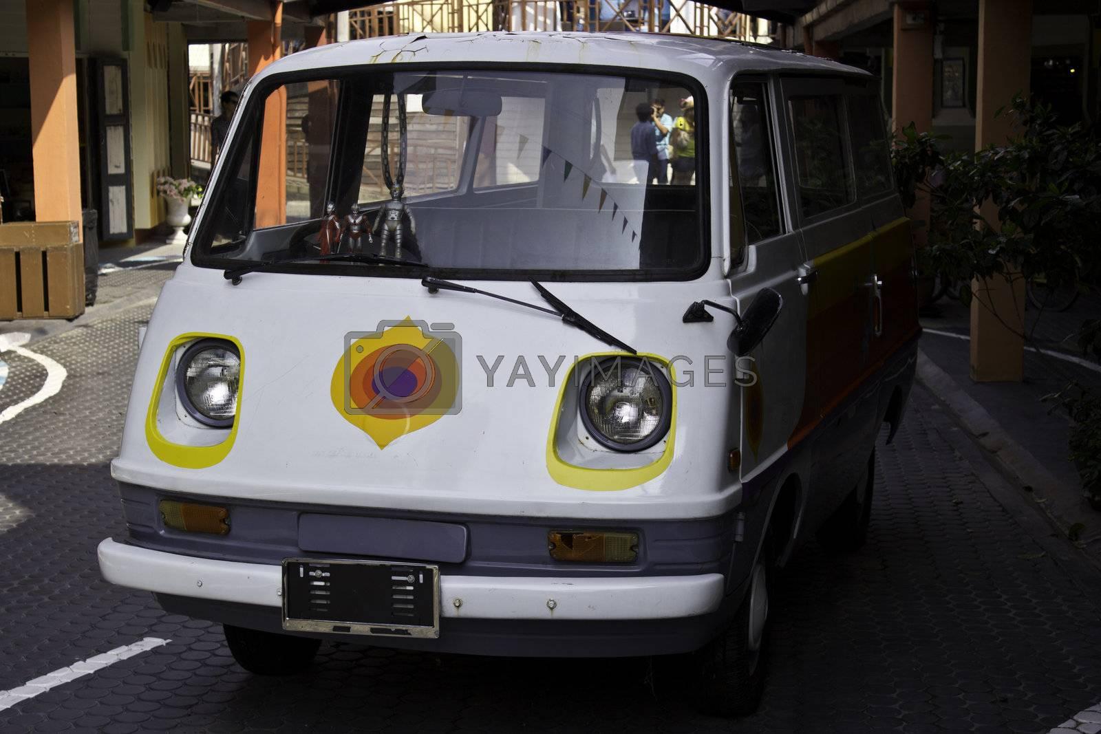 automobile white van