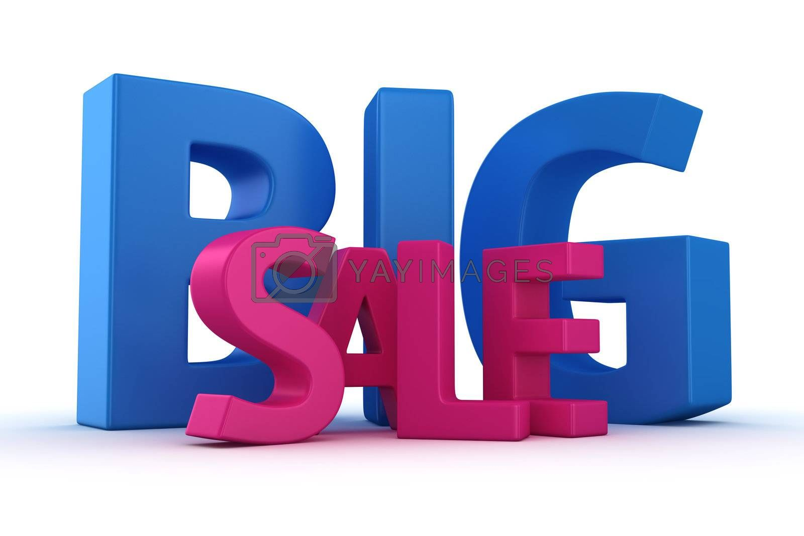 Text Big sale on the white background