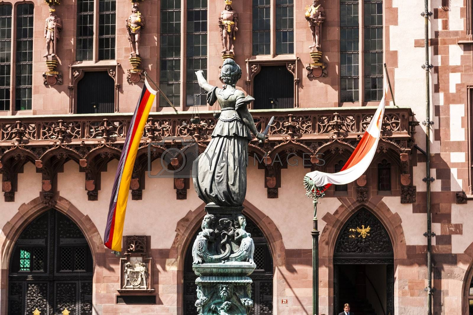 justitia in front of the town hall