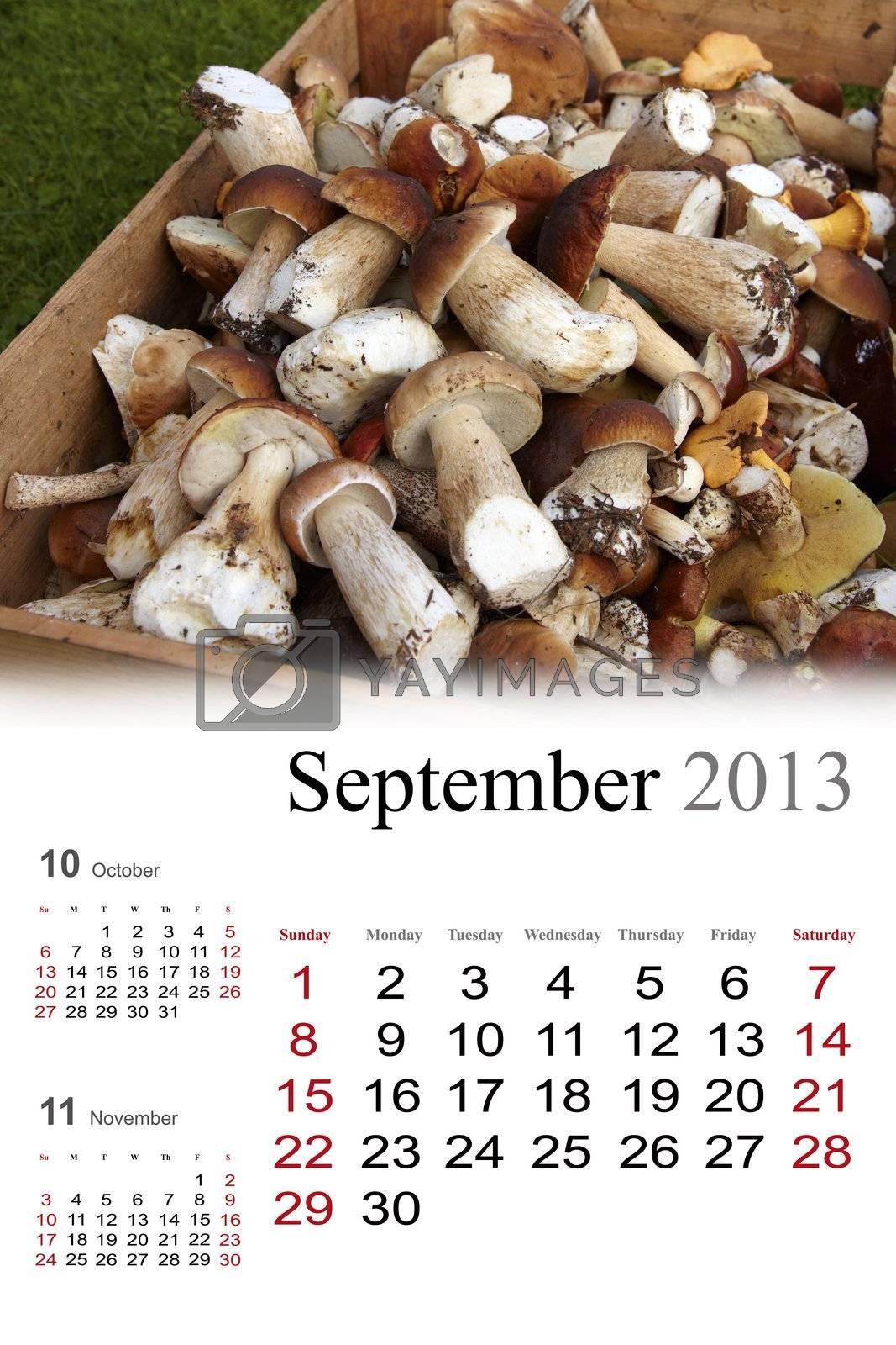 2013 Calendar. September by Nikonas