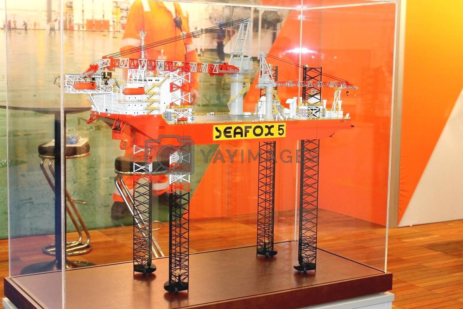 Stand shipbuilding company  at the exhibition Offshore Energy 2012. Netherlands