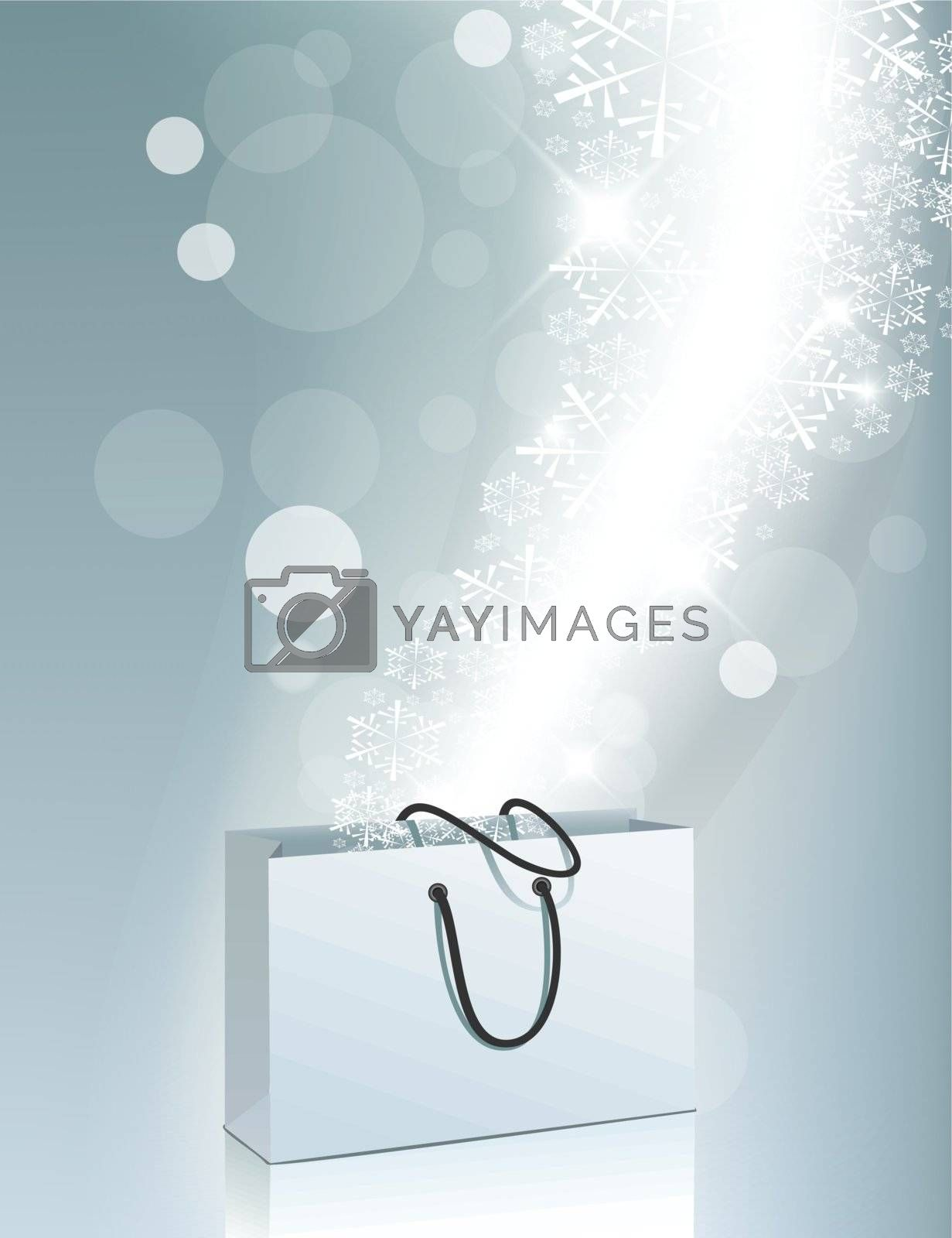 Shopping Bag With snowflakes