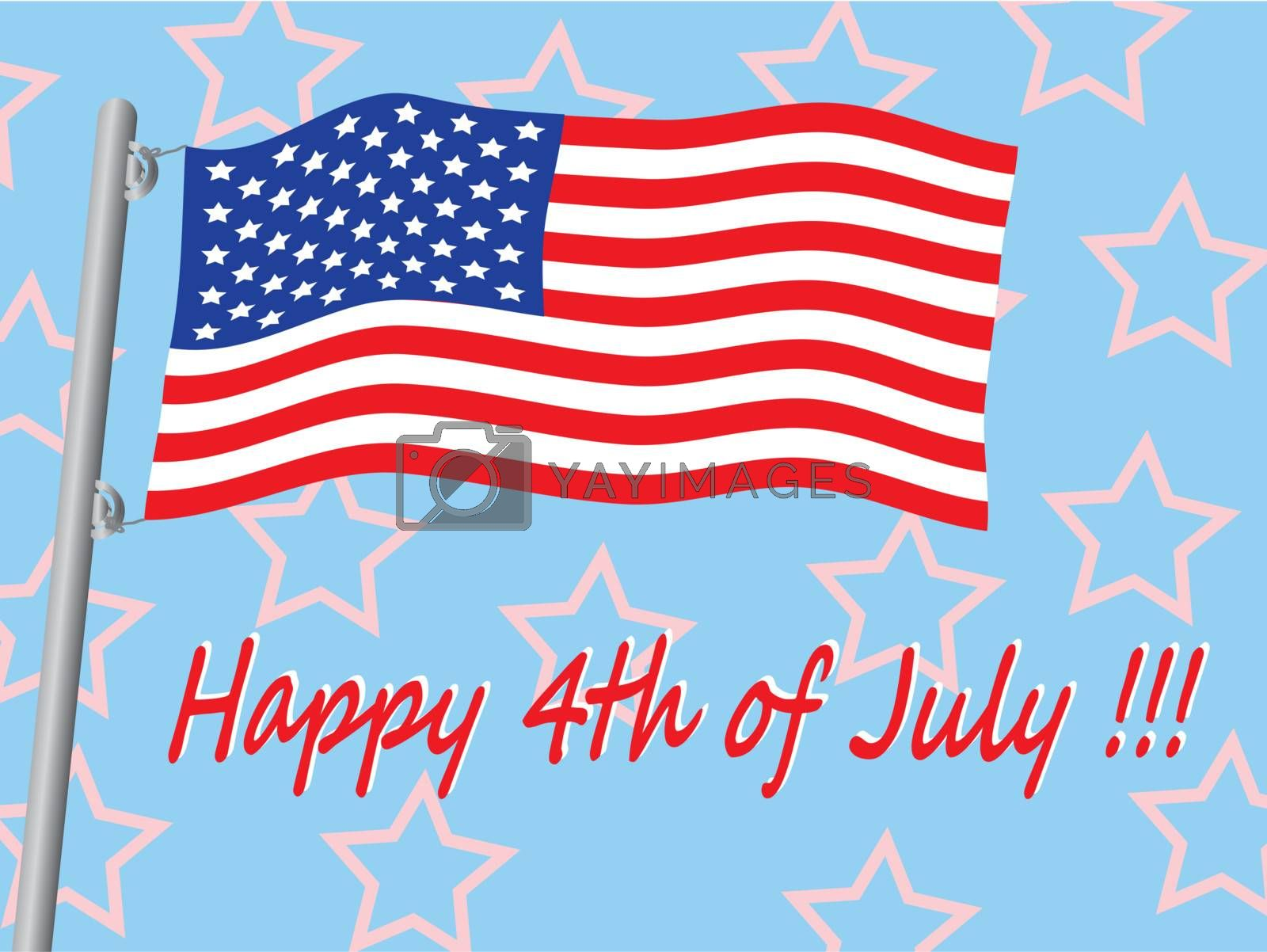 Happy 4th of July vector illustration