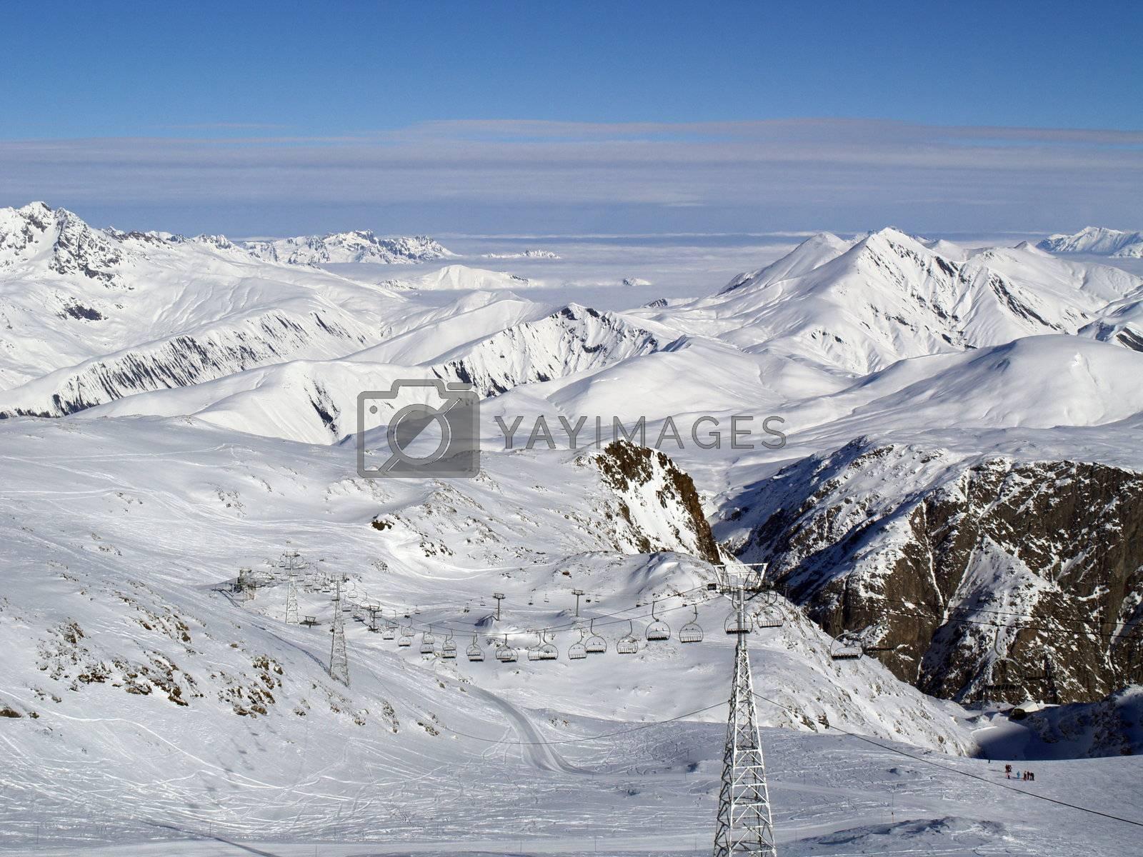 Snow covered mounatins