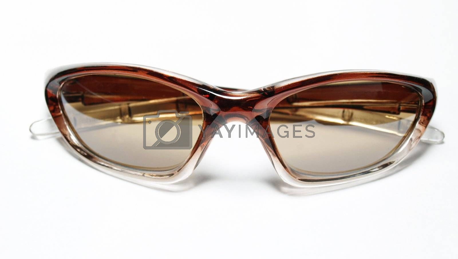 Isolated brown sunglasses