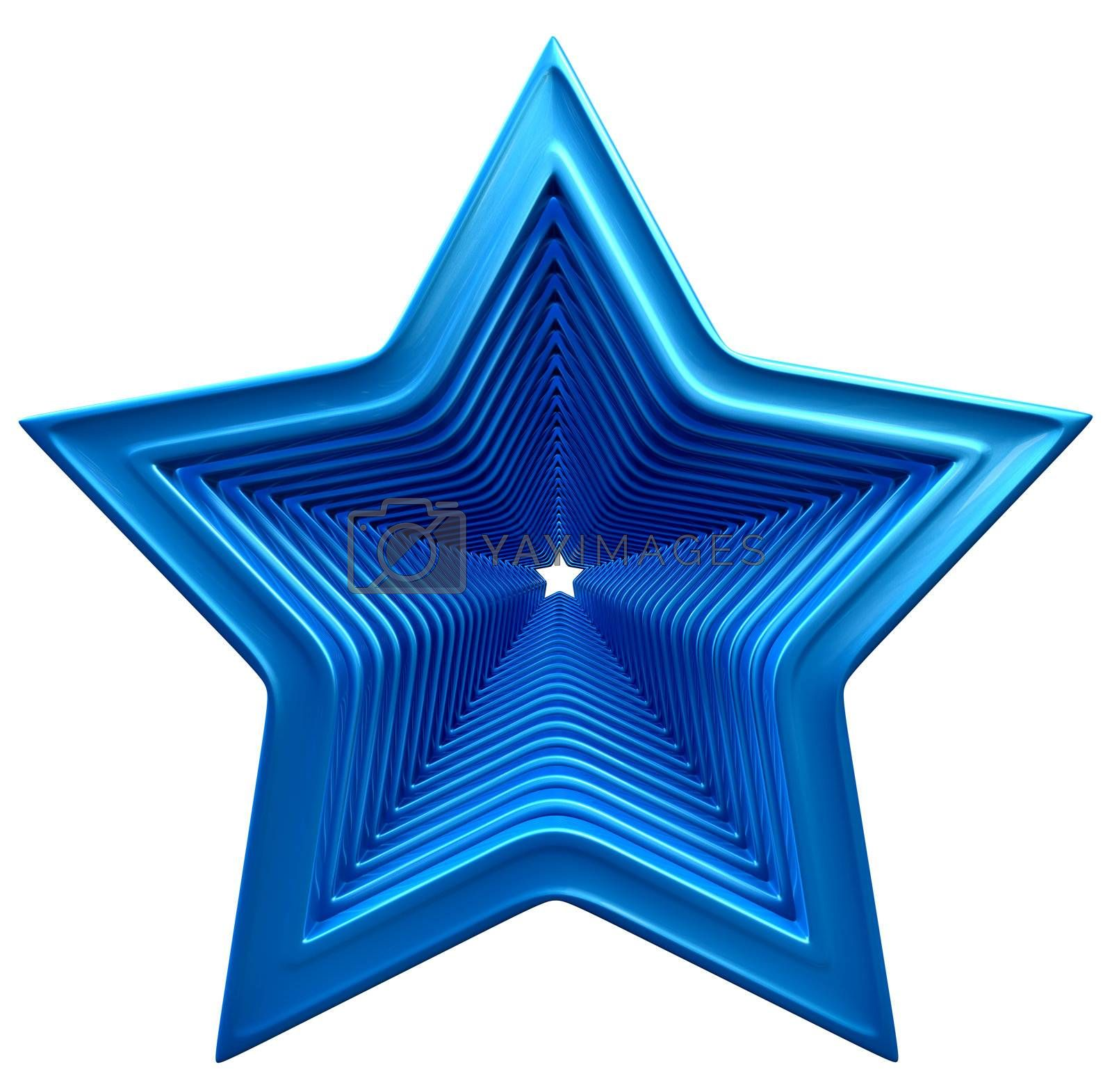 big and small stars in motion for advertise on white background