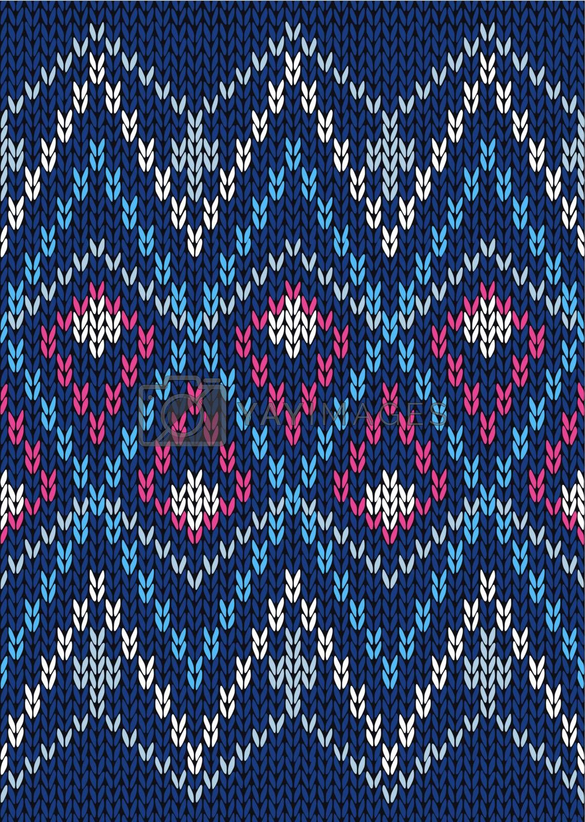 Seamless Ornamental Male Style Knitted Vector Pattern