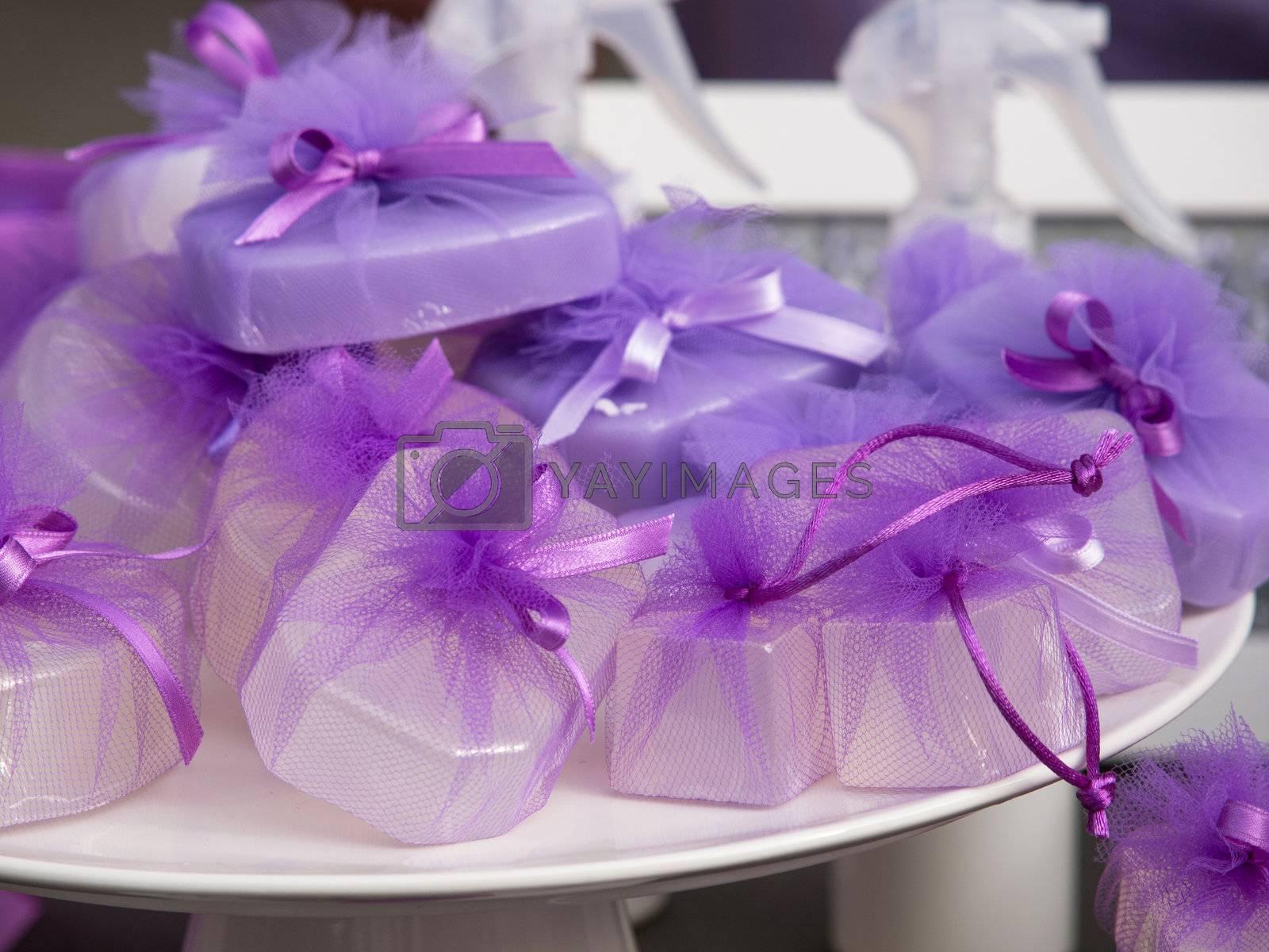 lavender soap on the open market