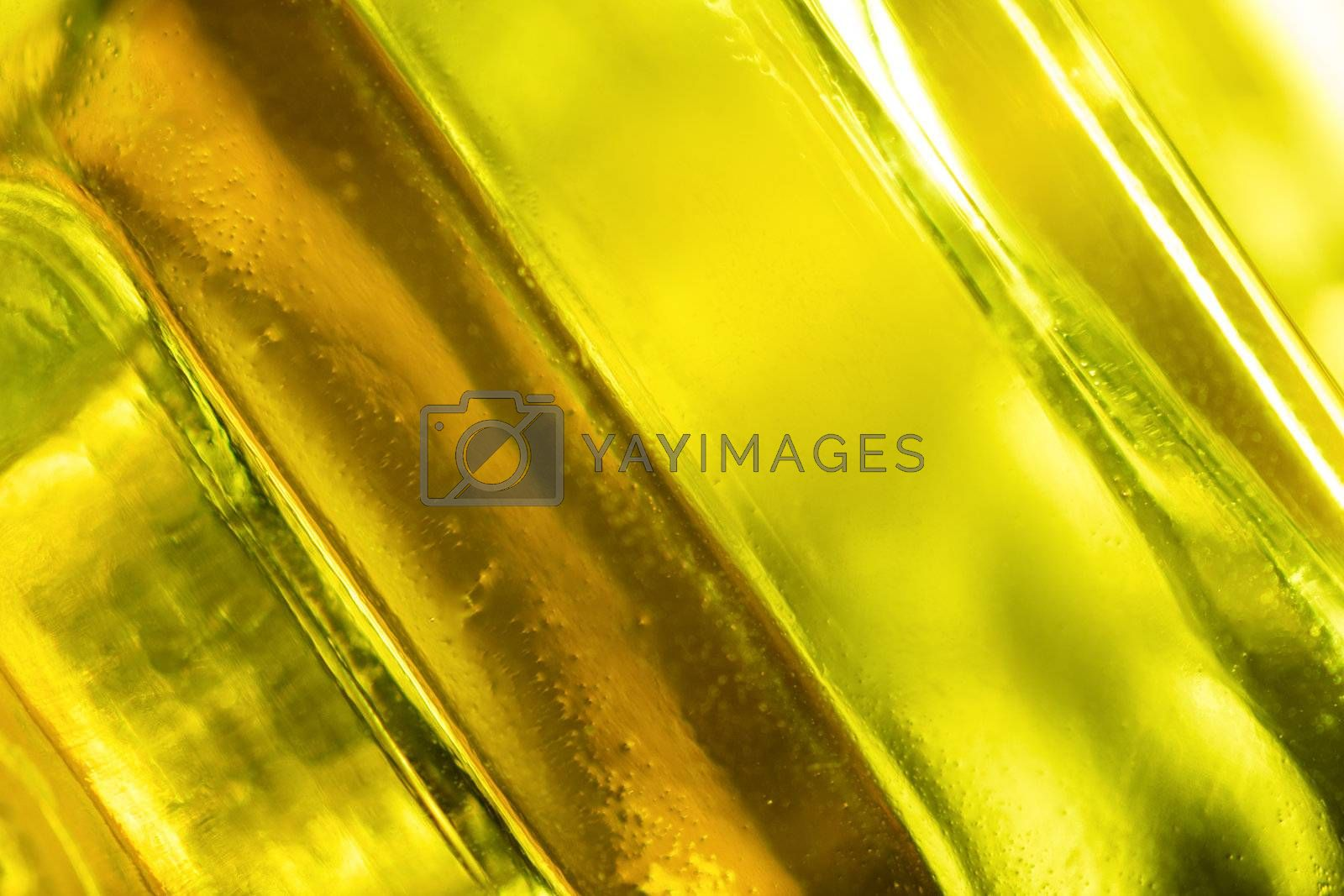 close-up shot of abstract green glass background